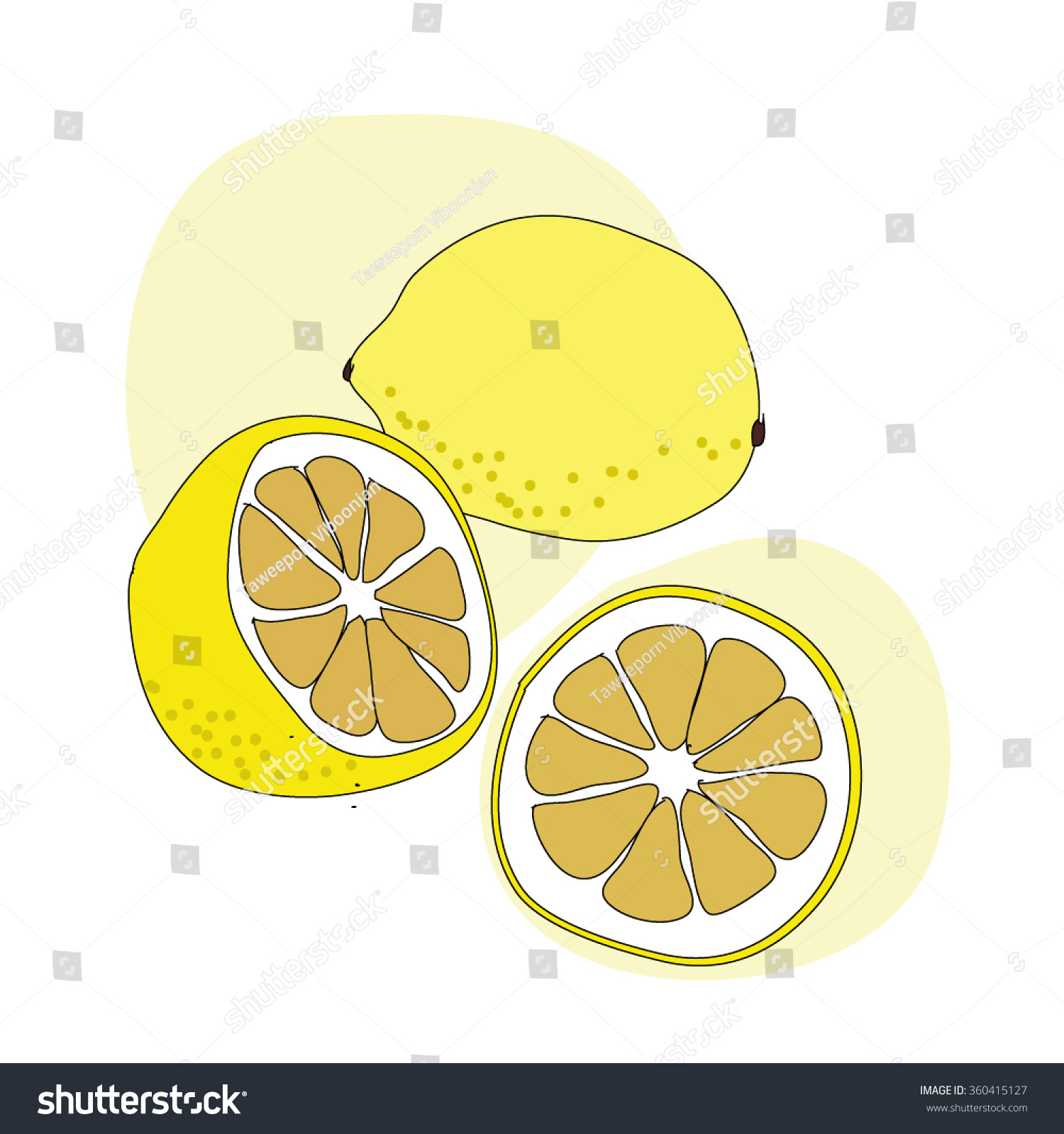 Lemons Drawing Black Line , Yellow Lemon ,Drawing Lemon ...