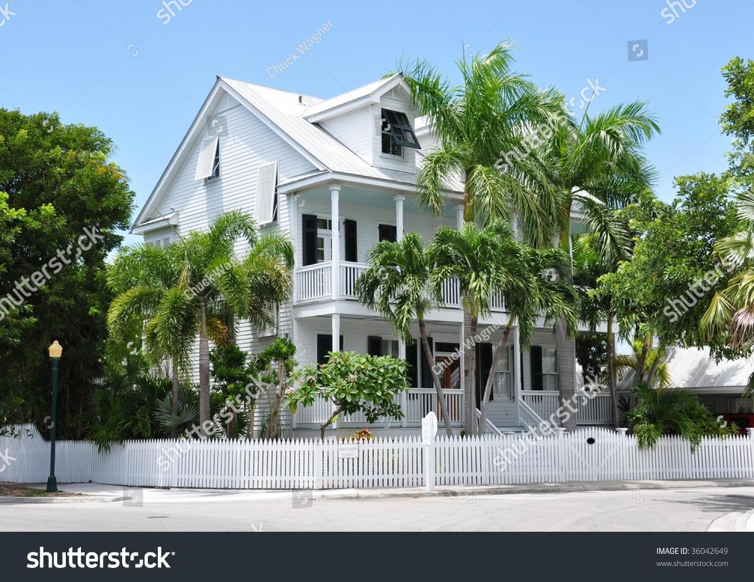 Key West Style Architecture Stock Photo 36042649
