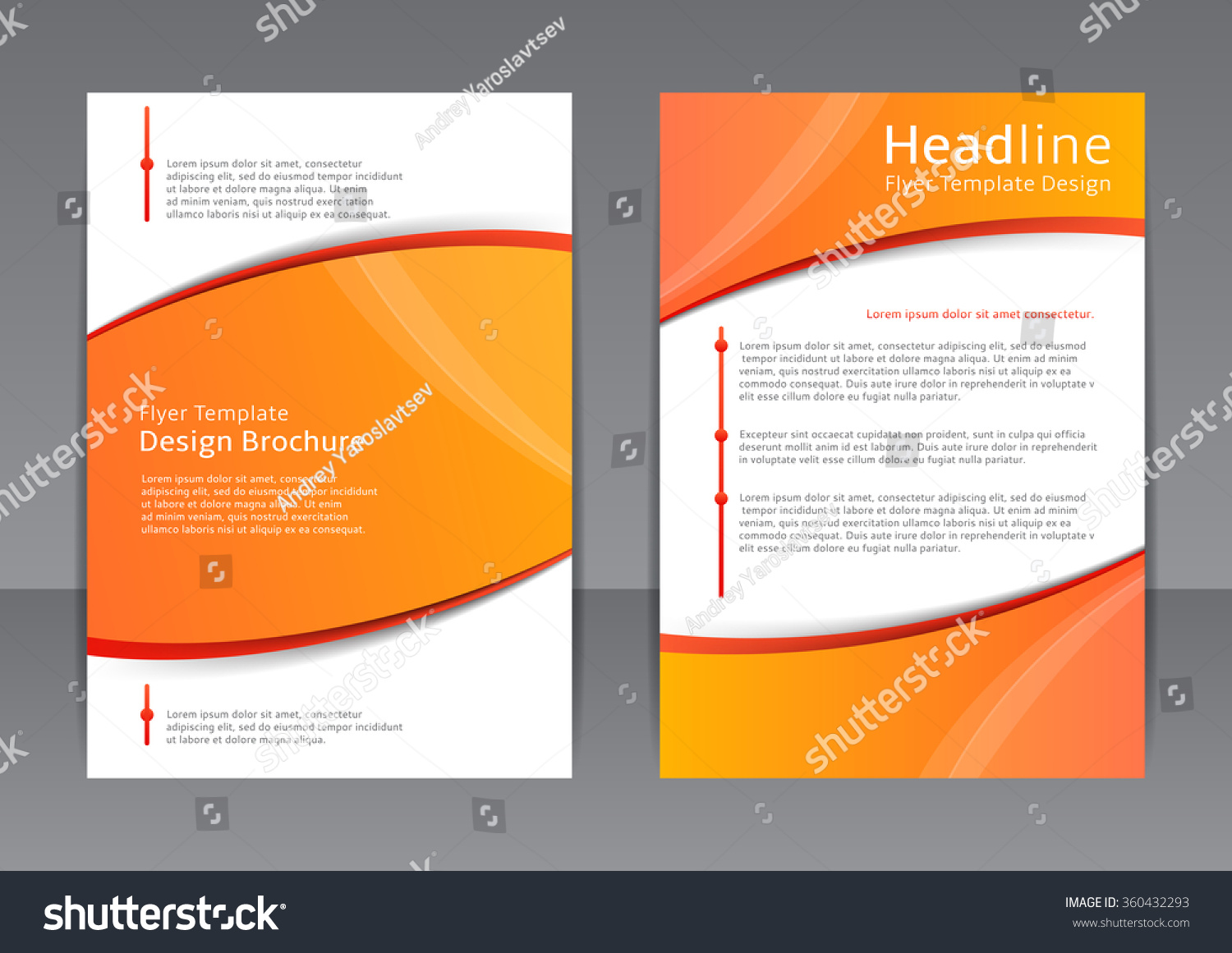 vector design orange flyer cover brochure stock vector 360432293 vector design of the orange flyer cover brochure poster report vector
