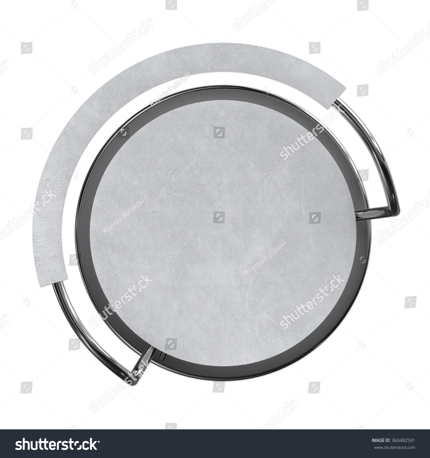 White Bar Stool Top View Stock Illustration 360482591