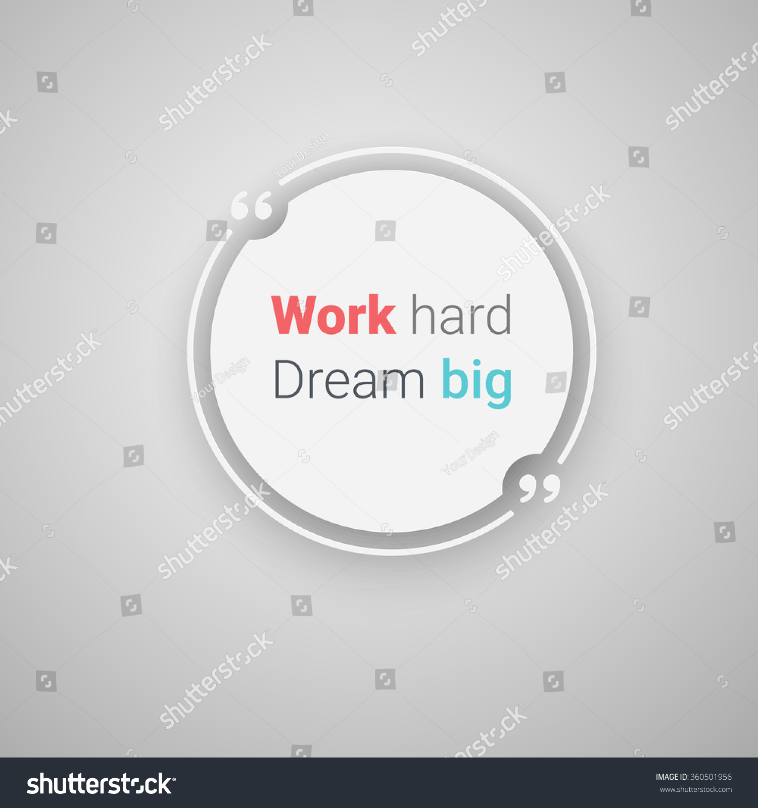 Quote Text Bubble Commas Note Message Stock Vector 360501956 ...