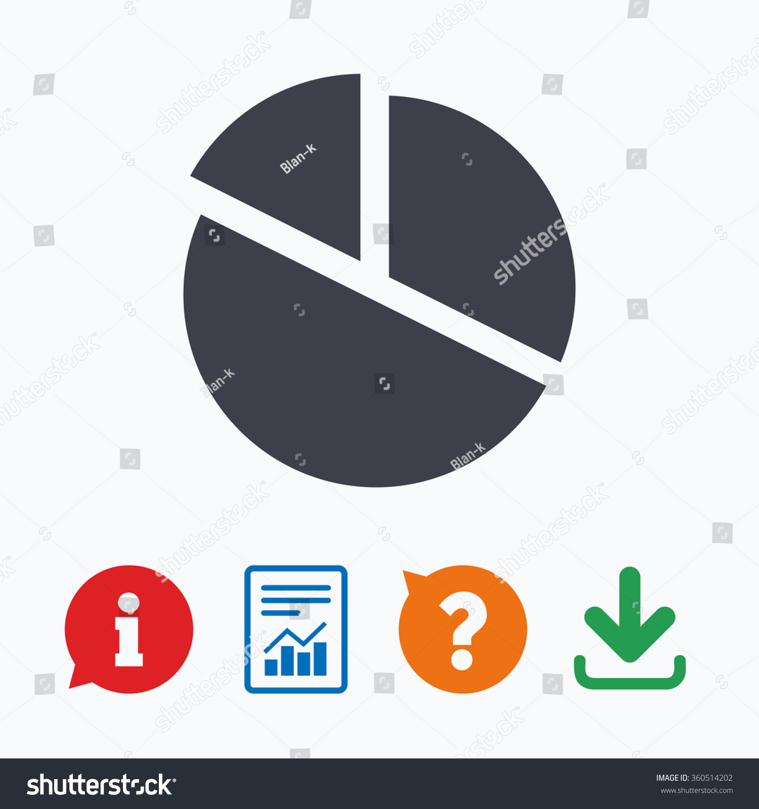 Pie Chart Graph Sign Icon Diagram Stock Illustration 360514202