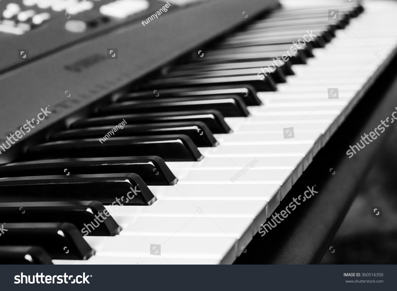 Piano keyboard music instrument black white stock photo 360516350 piano keyboard music instrument black and white key play sound chord hexwebz Images