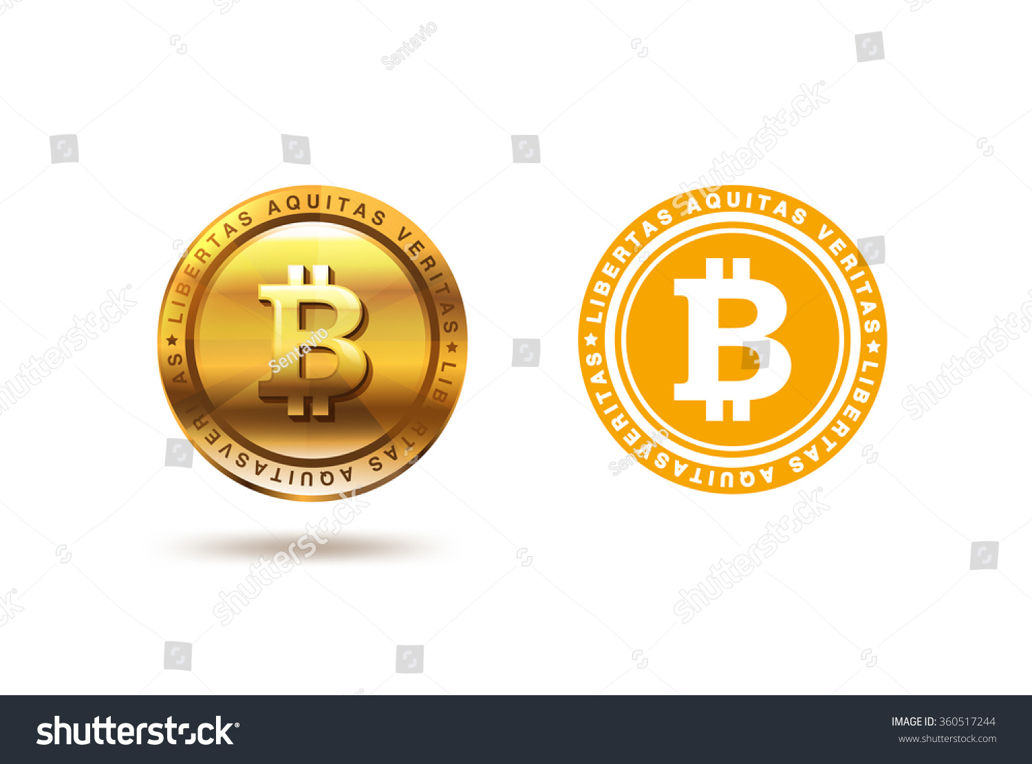 Gold Bitcoin Coin Logo Design Vector Stock Vector ...