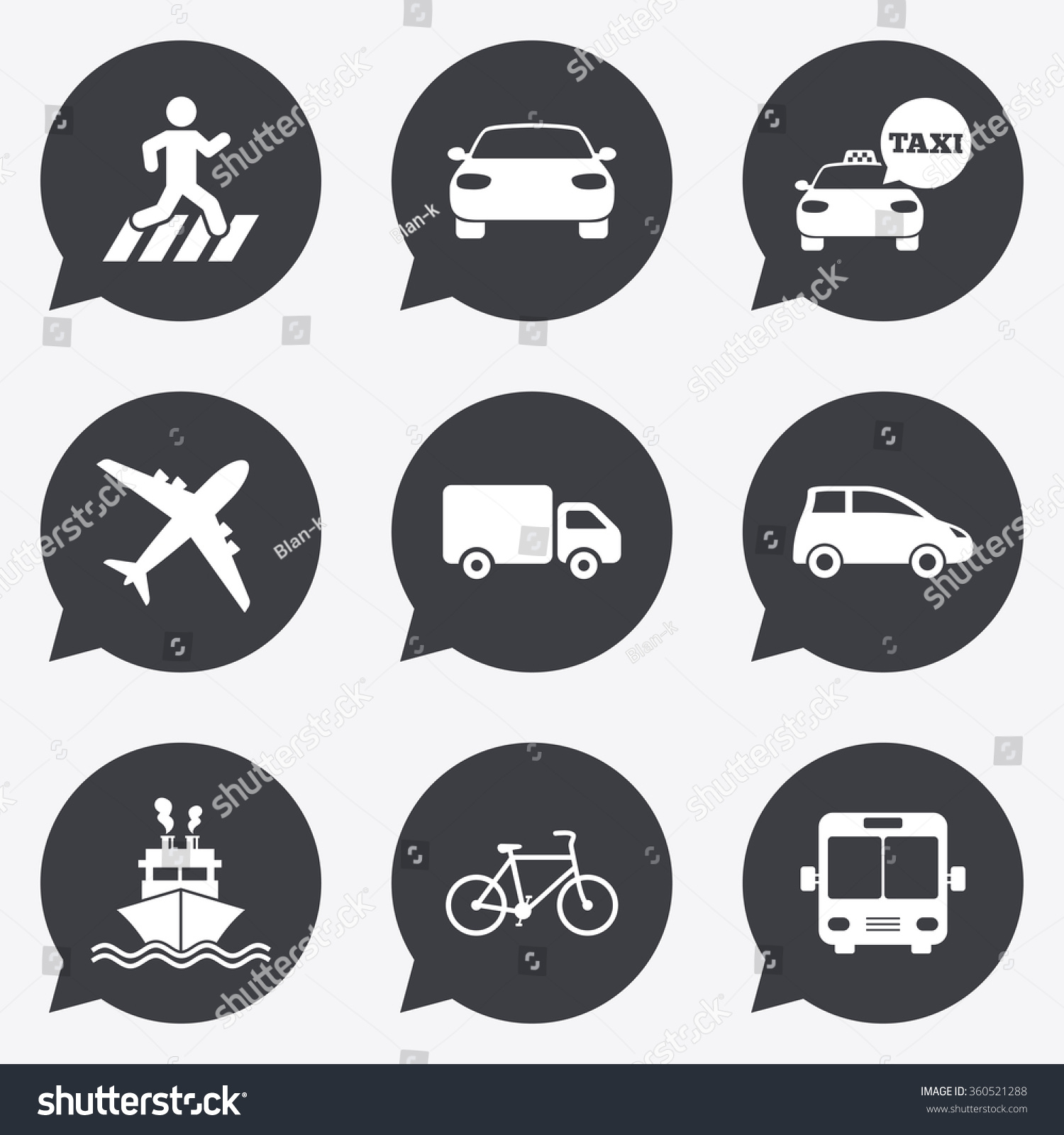 Transport icons car bike bus taxi stock illustration 360521288 car bike bus and taxi signs shipping delivery pedestrian biocorpaavc Gallery