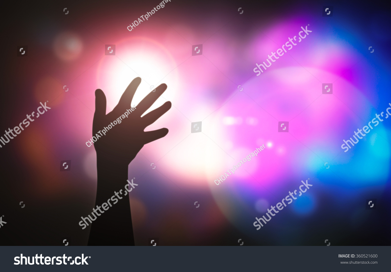 Worship Jesus Christ Concept Human Raised Stock Photo (Edit Now ...