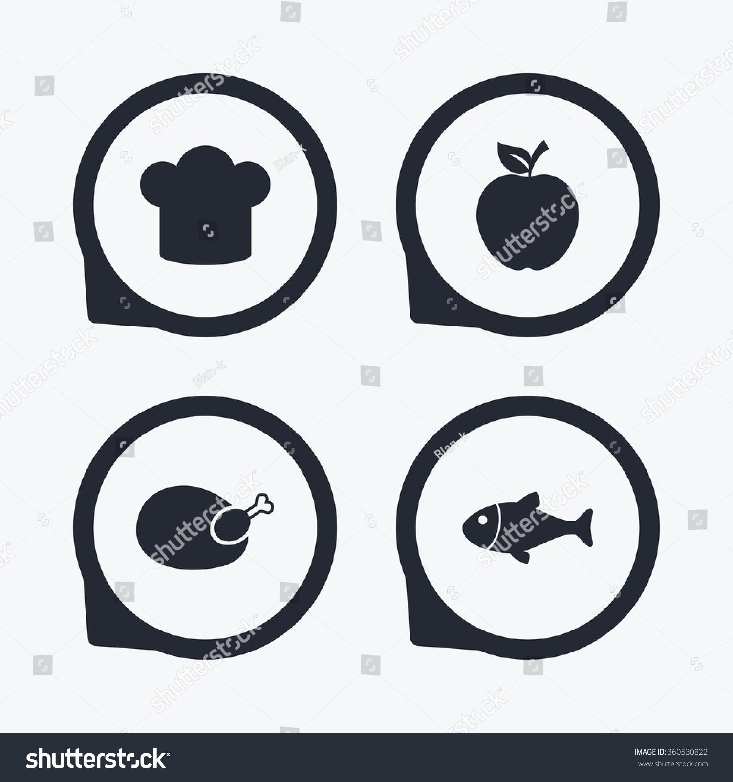 Food icons apple fruit leaf symbol stock illustration 360530822 apple fruit with leaf symbol chicken hen bird meat sign fish buycottarizona