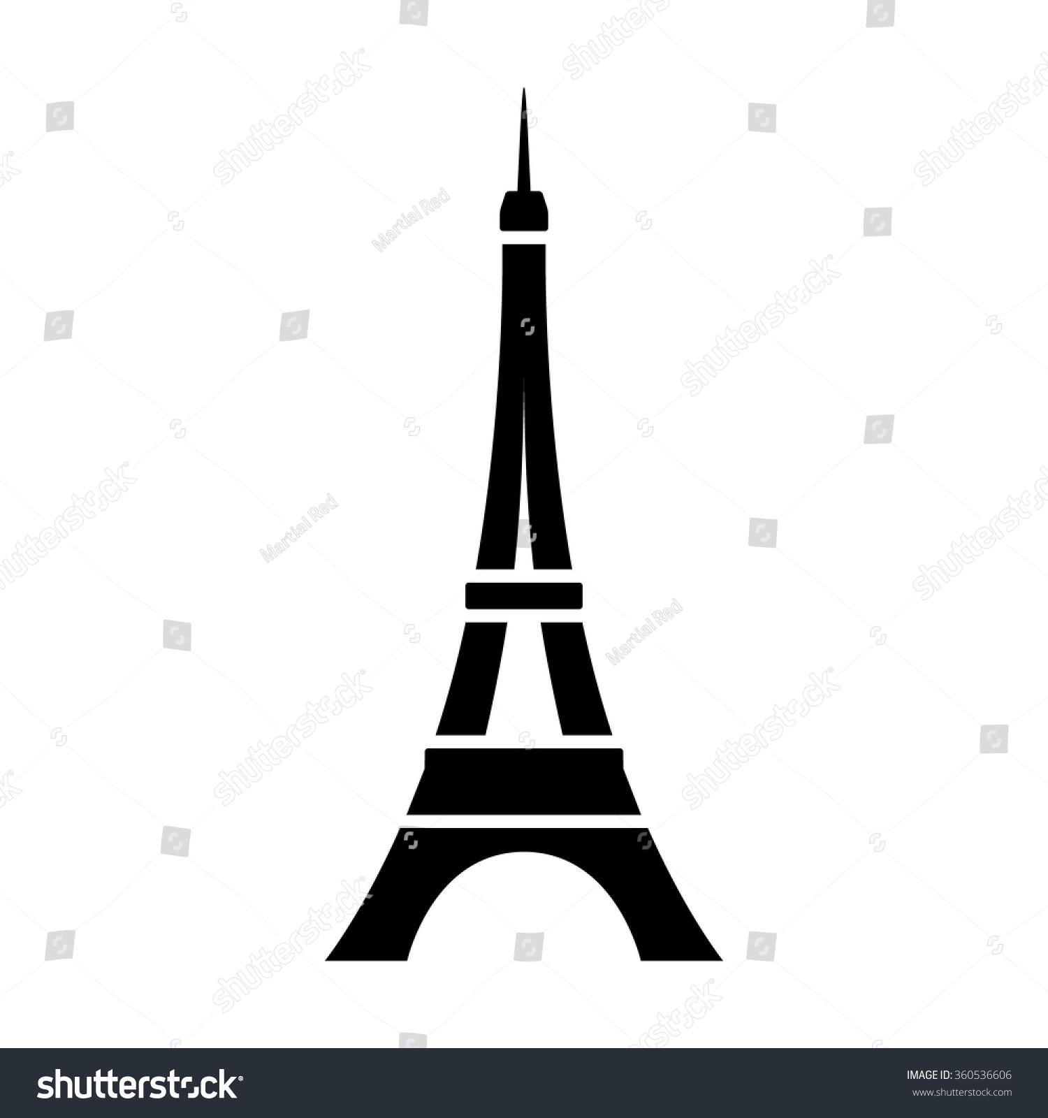 Tour Eiffel Tower Paris France Flat Stock Vector Royalty Free 360536606