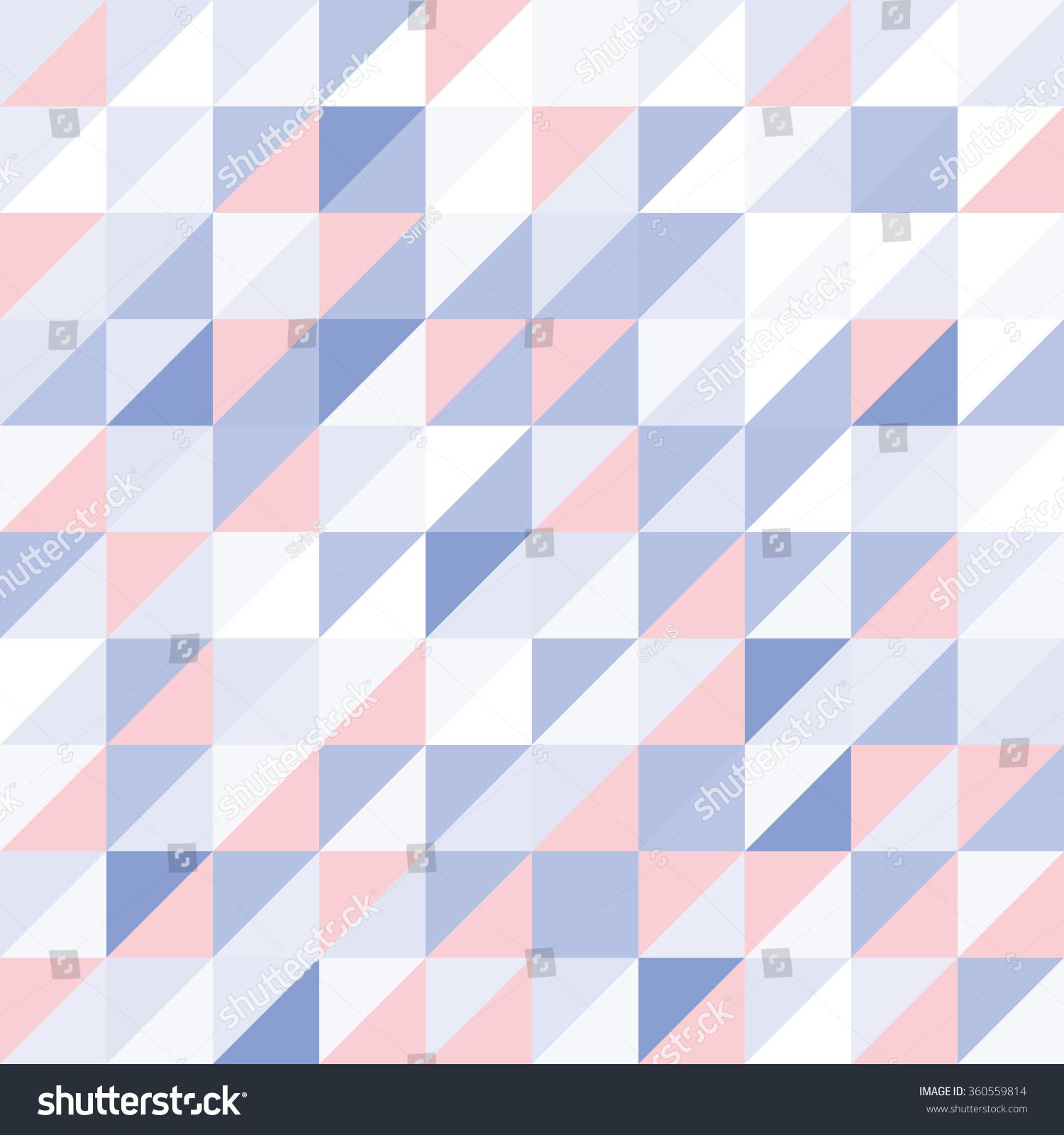 Rosequartz Serenity Tone Geometric Wallpaper Vector Stock Vector