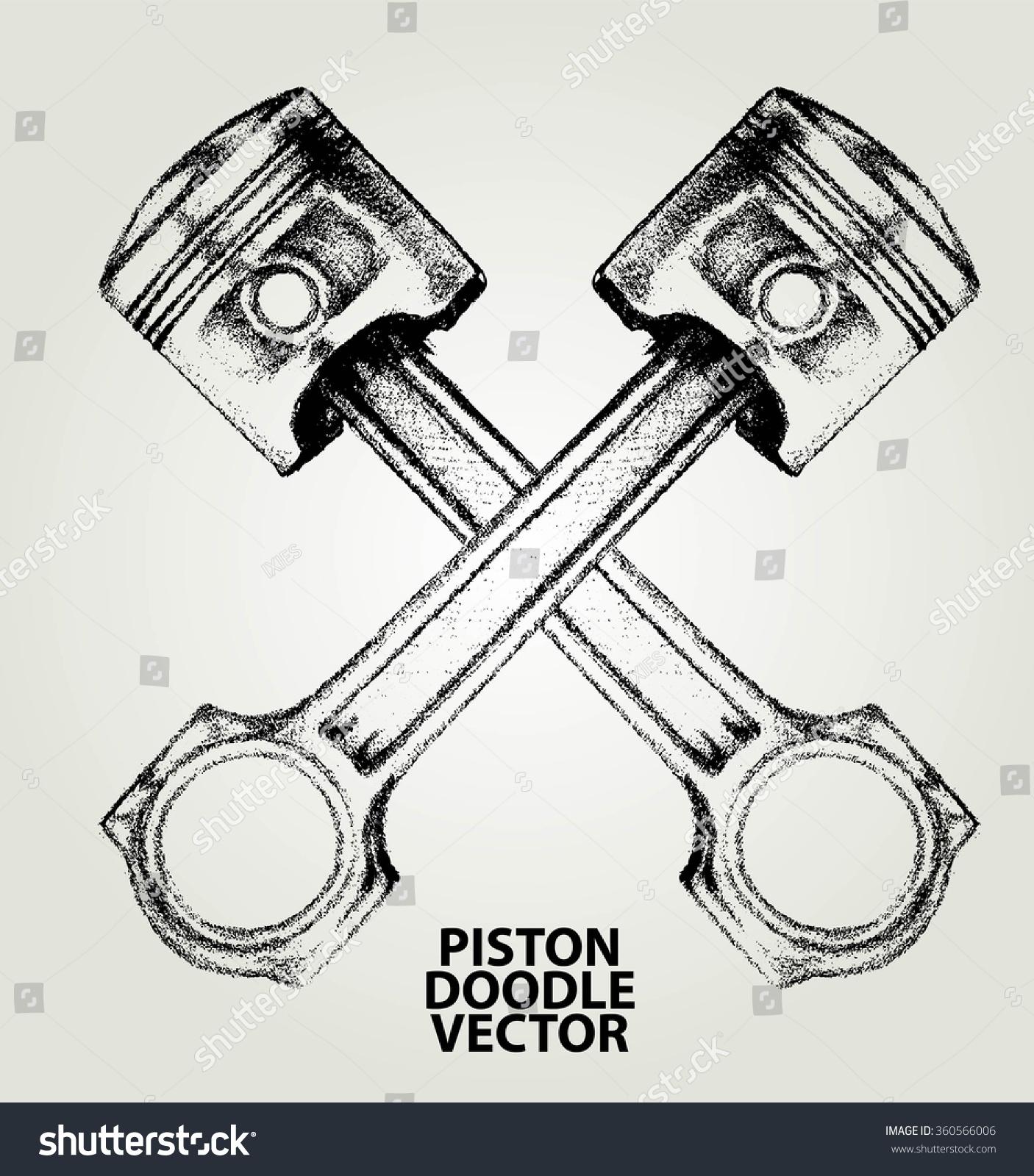 ... Engine pistons tattoo design stock vectors & vector clip art