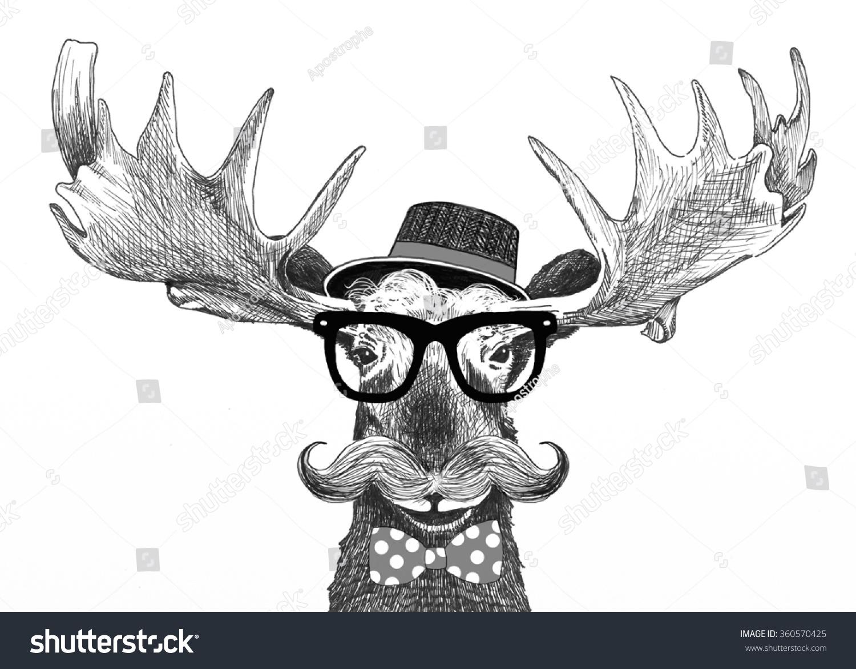 1defef6fbcd Royalty-free Hipster glasses on moose