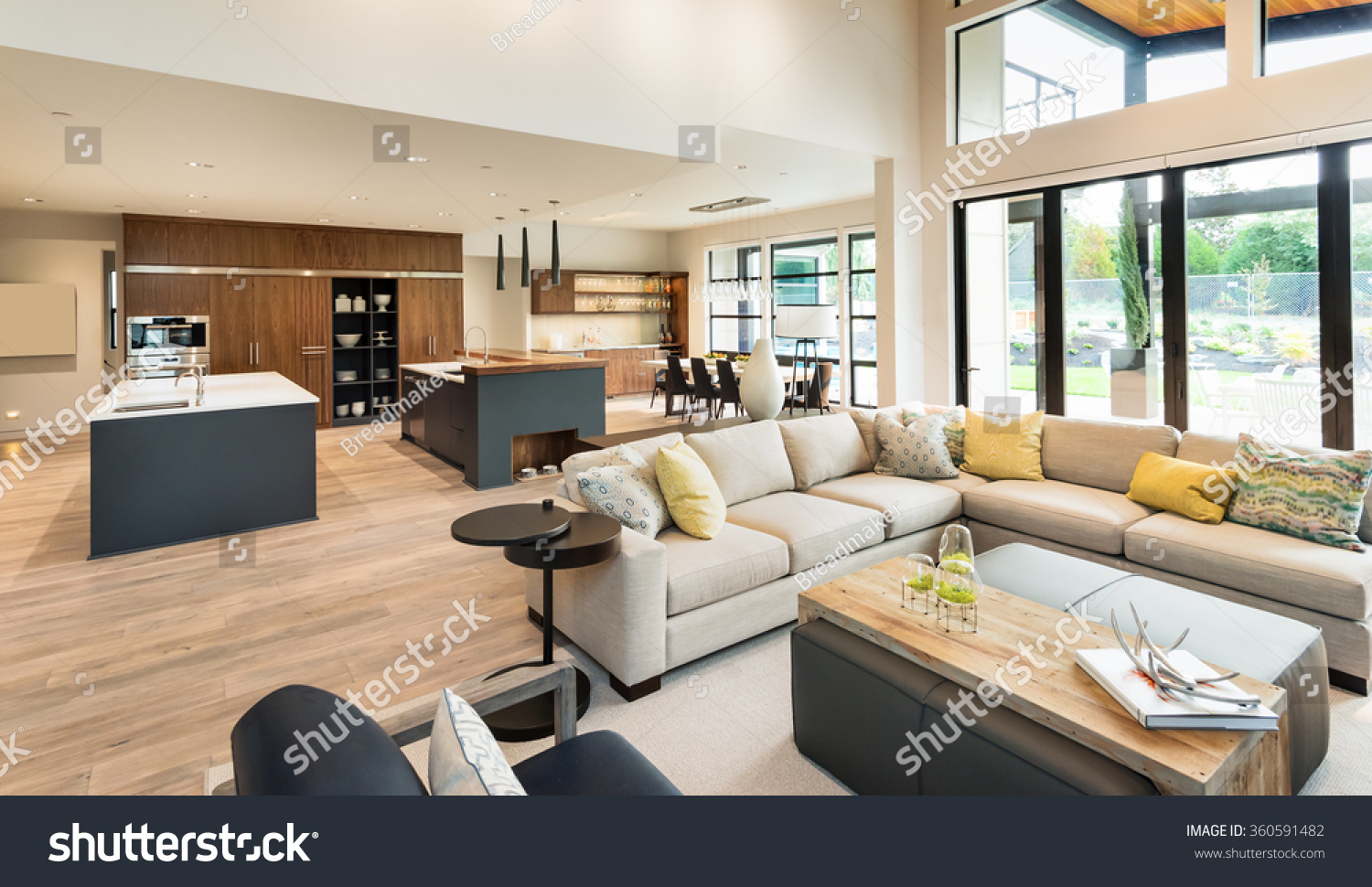 beautiful living room interior new luxury stock photo 360591482