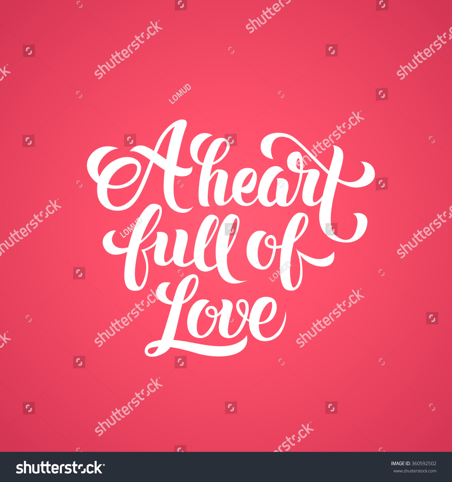 A Heart full of Love hand-lett...