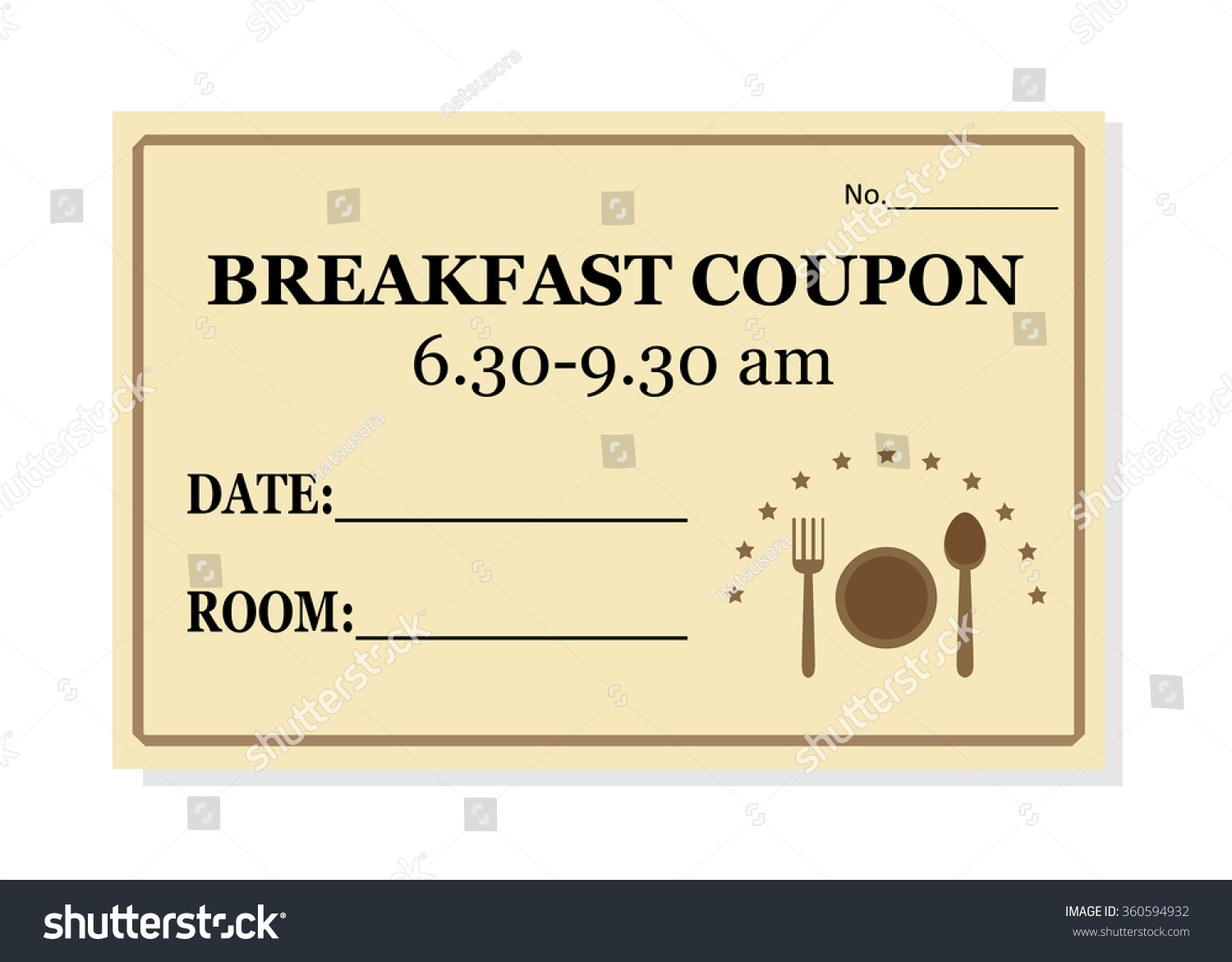 breakfast coupon template hotel isolated on stock vector 360594932 breakfast coupon template for hotel isolated on white background vector