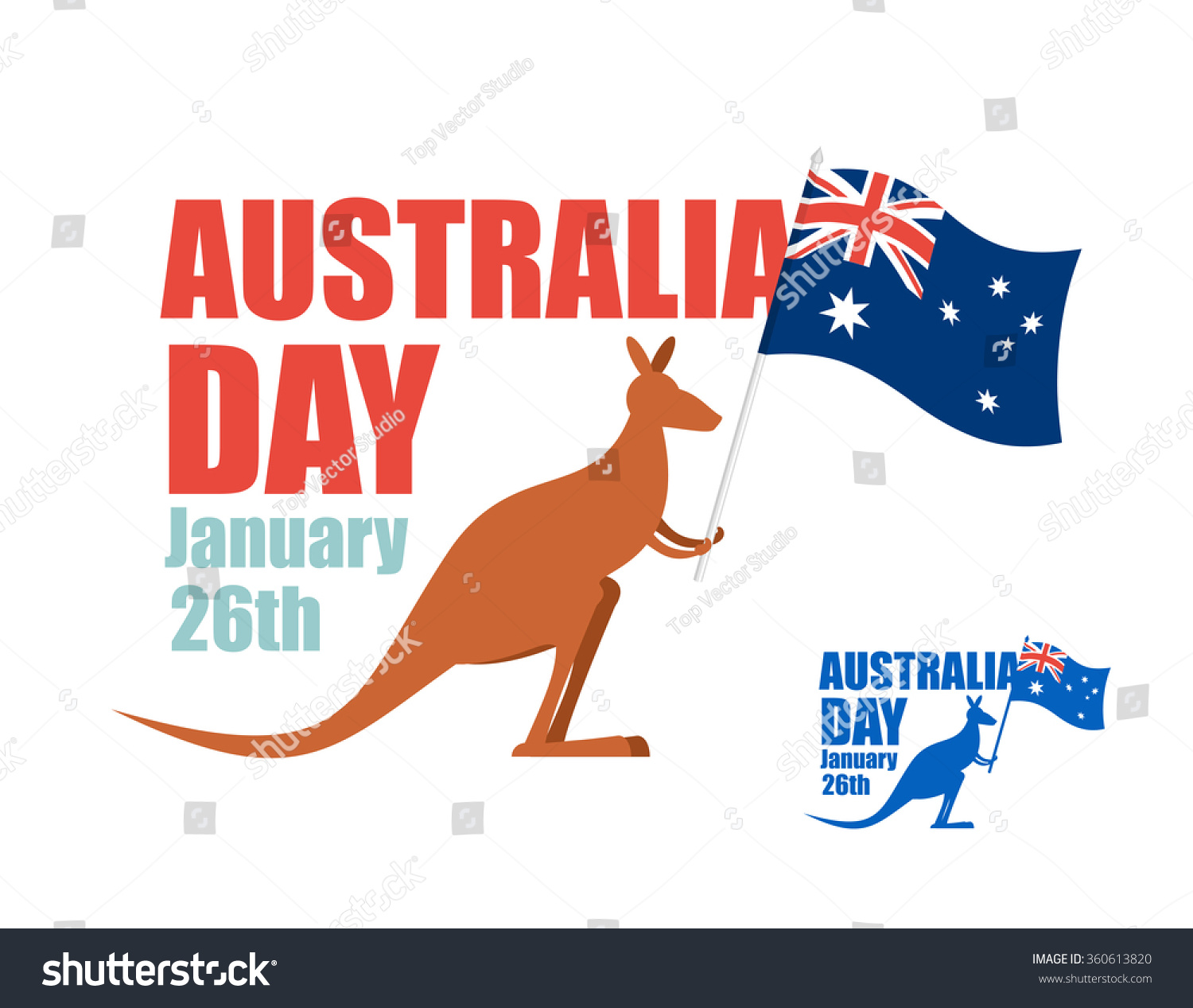 Australia Day Illustration Patriotic Holiday Country Stock ...