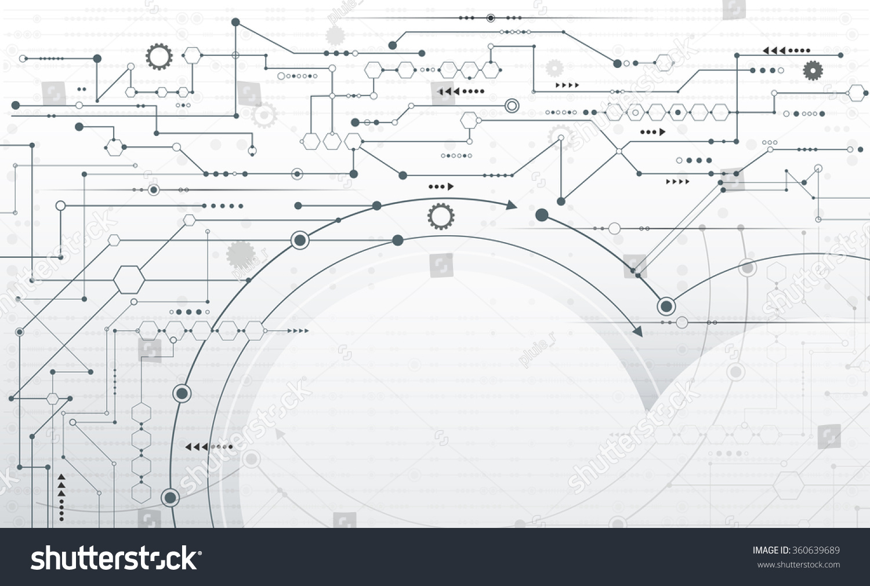 Royalty Free Vector Abstract Futuristic Stripe Line 360639689 Circuit Board Blank Printed Pattern Gear Wheel Arrow Symbol
