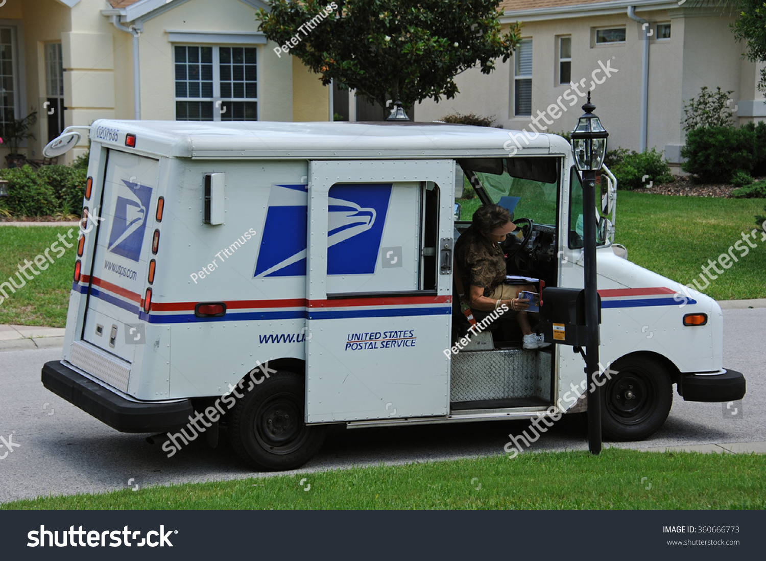 Us Post Vehicle In Summerfield Florida Usa - Circa 2014 ...