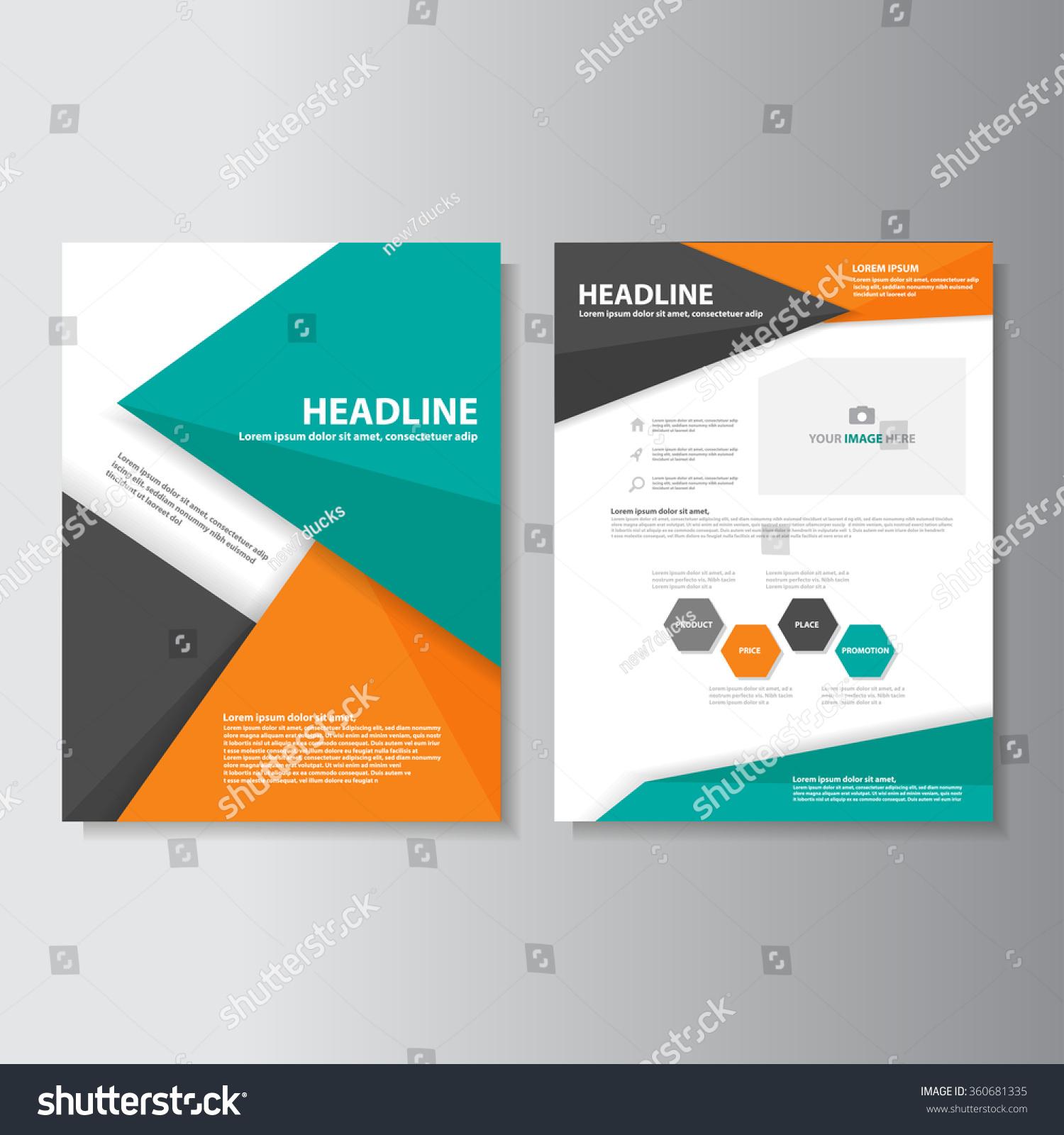 green orange brochure a flyer leaflet template set for marketing green orange brochure a4 flyer leaflet template set for marketing aand advertising