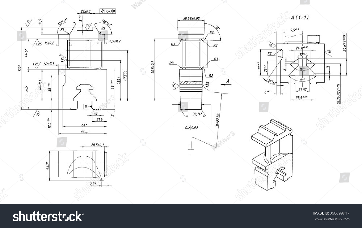 Drawing Turbine Blade Stock Vector 360699917 Shutterstock