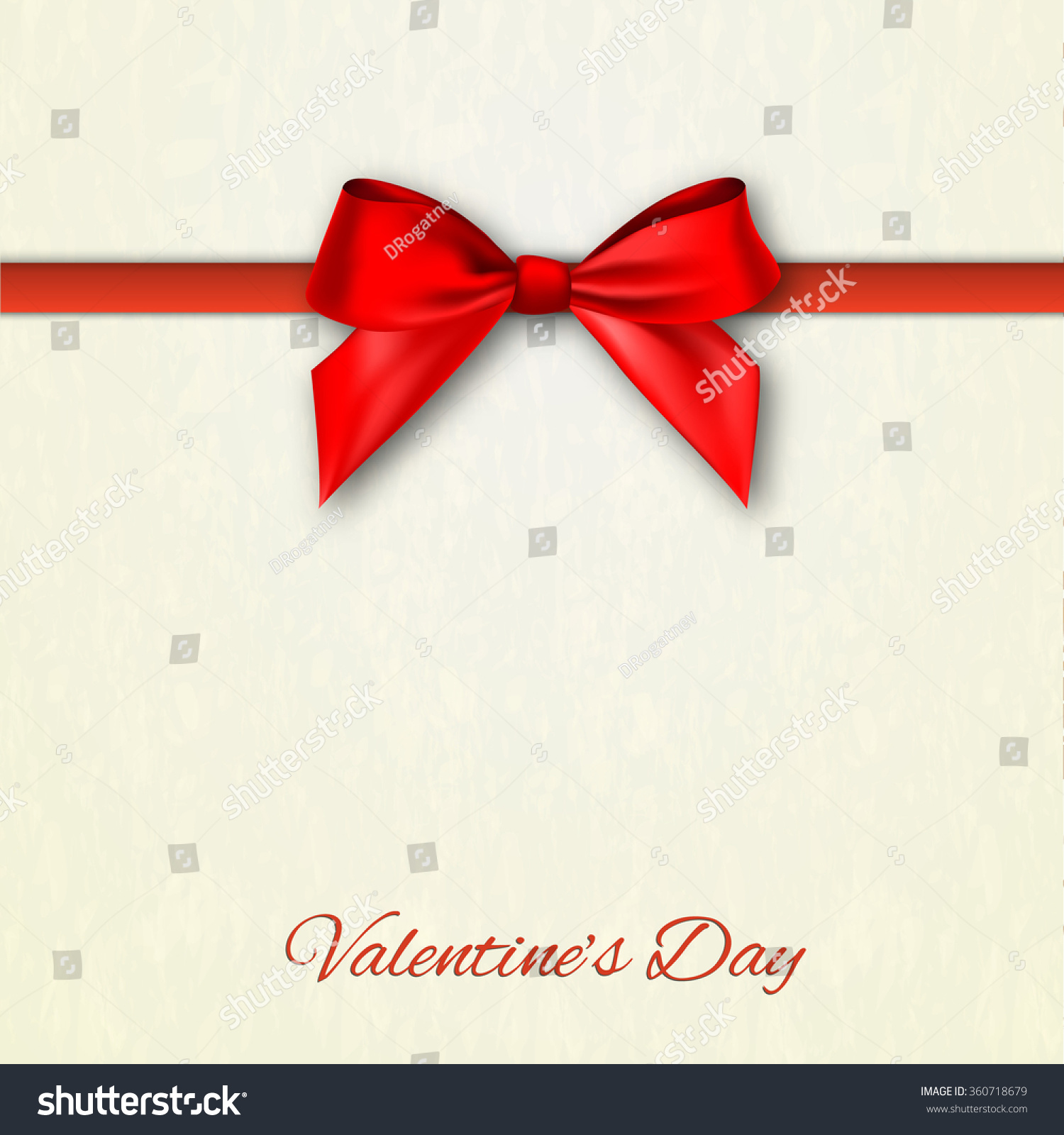 Happy Valentines Day Greeting Card Red Stock Vector 360718679