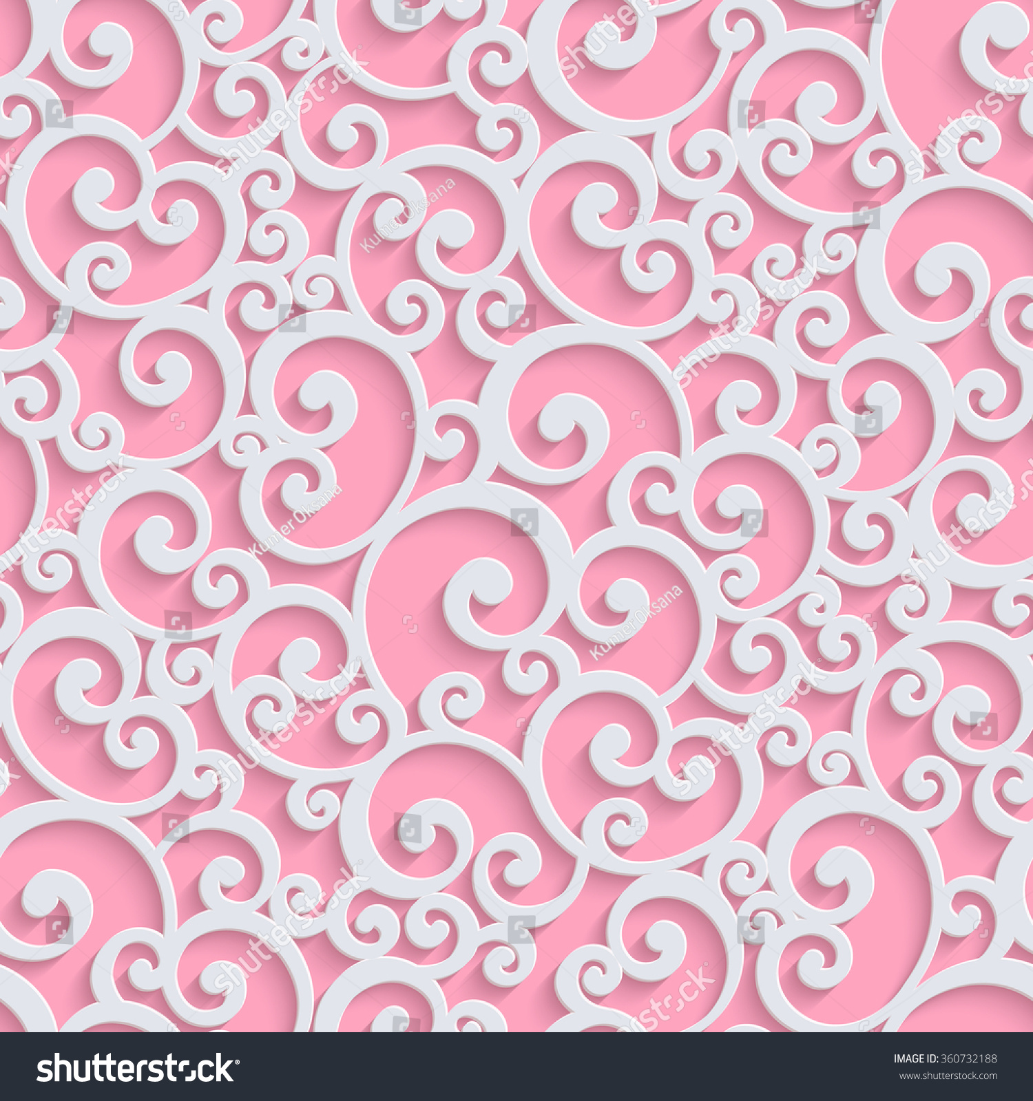 Romantic vector seamless background greeting card wallpaper vector art - Pink Floral 3d Seamless Pattern Background Vector Curl Decoration For Wallpaper Or Romantic Invitation Card