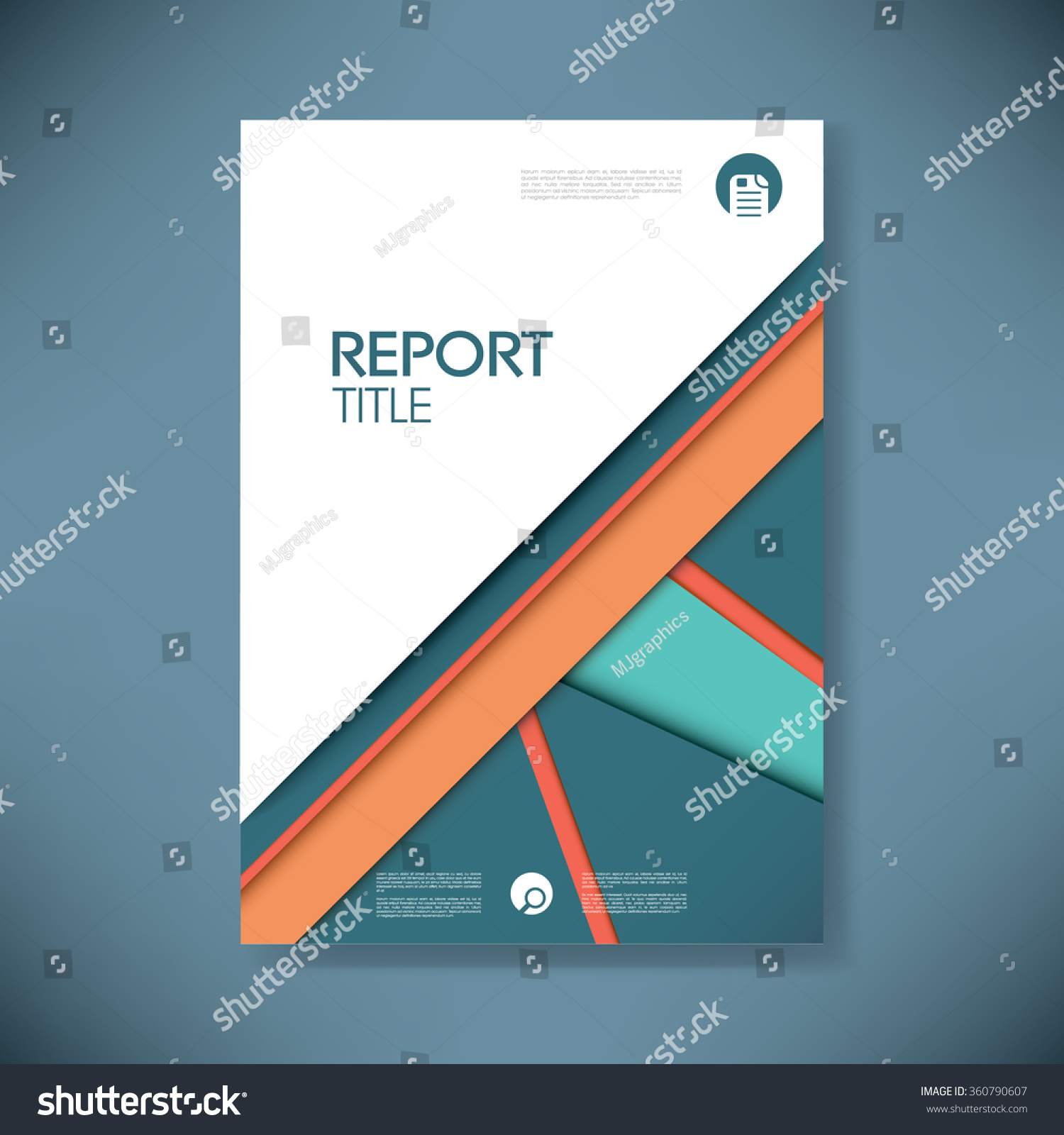 royalty business report cover template on blue 360790607 business report cover template on blue material design background brochure or presentation title page