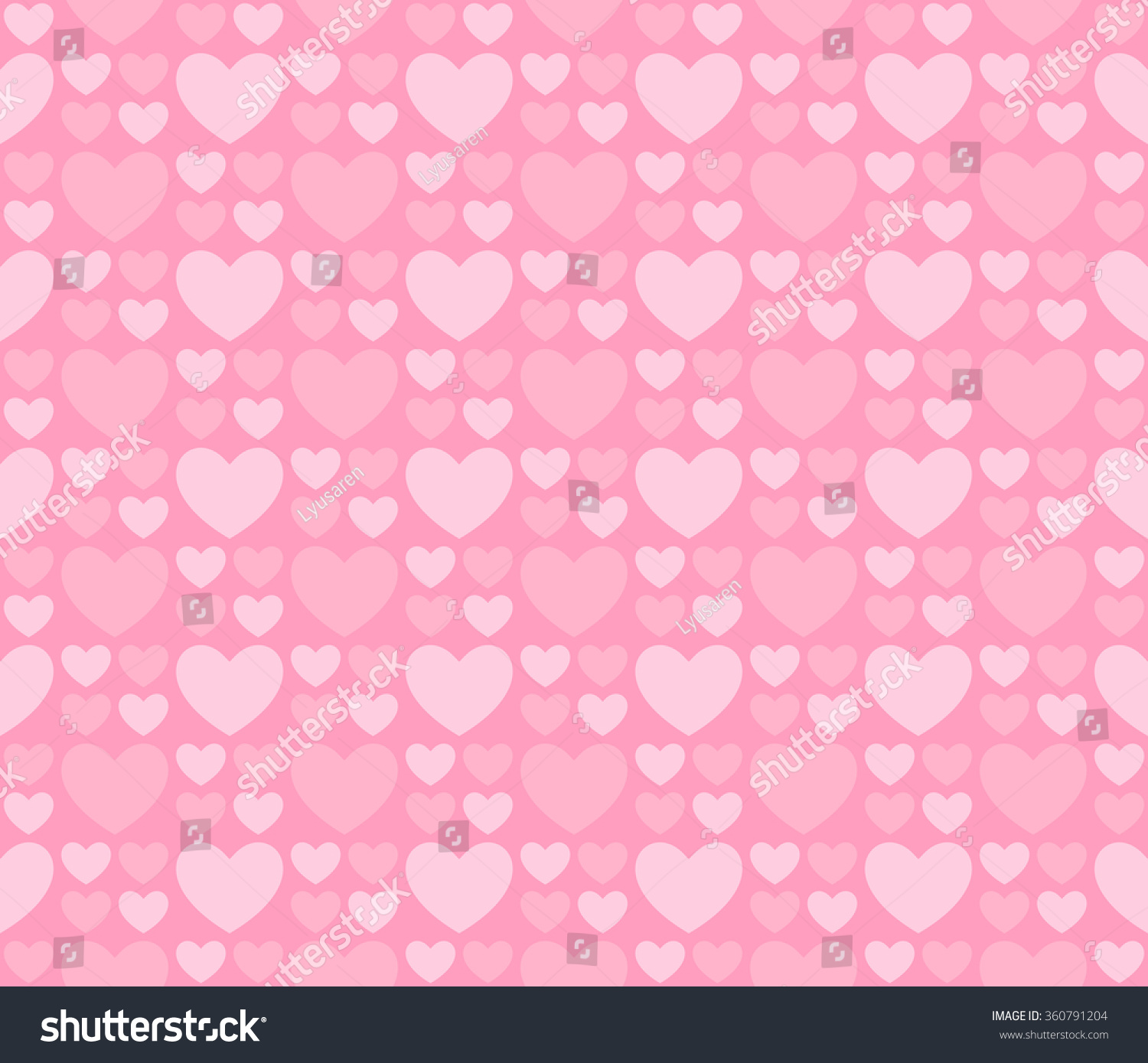 Light Seamless Patterns Hearts Romantic Pink Stock Vector Royalty