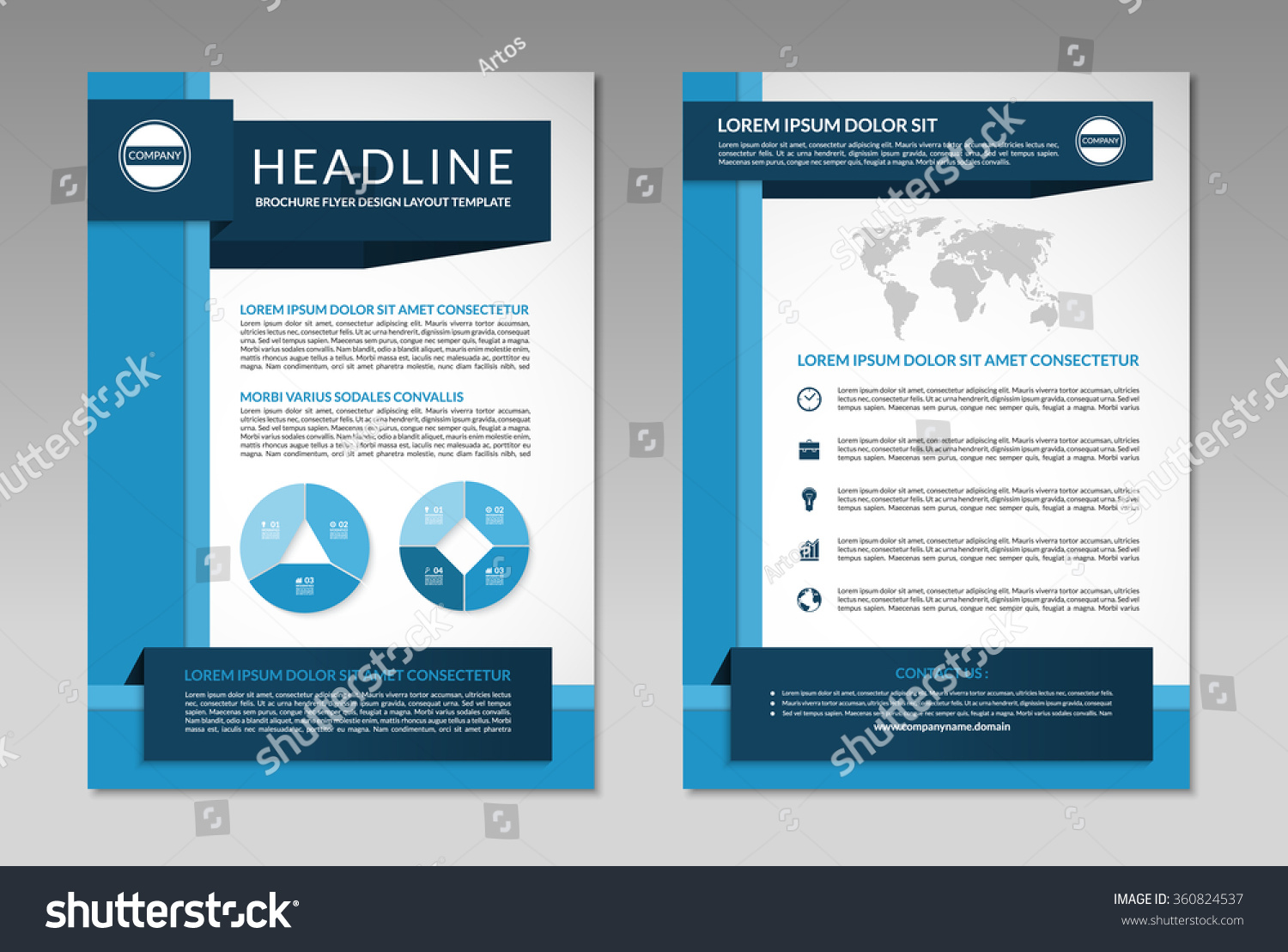 brochure flyer design layout template front stock vector  brochure flyer design layout template front and back page in a4 size business background