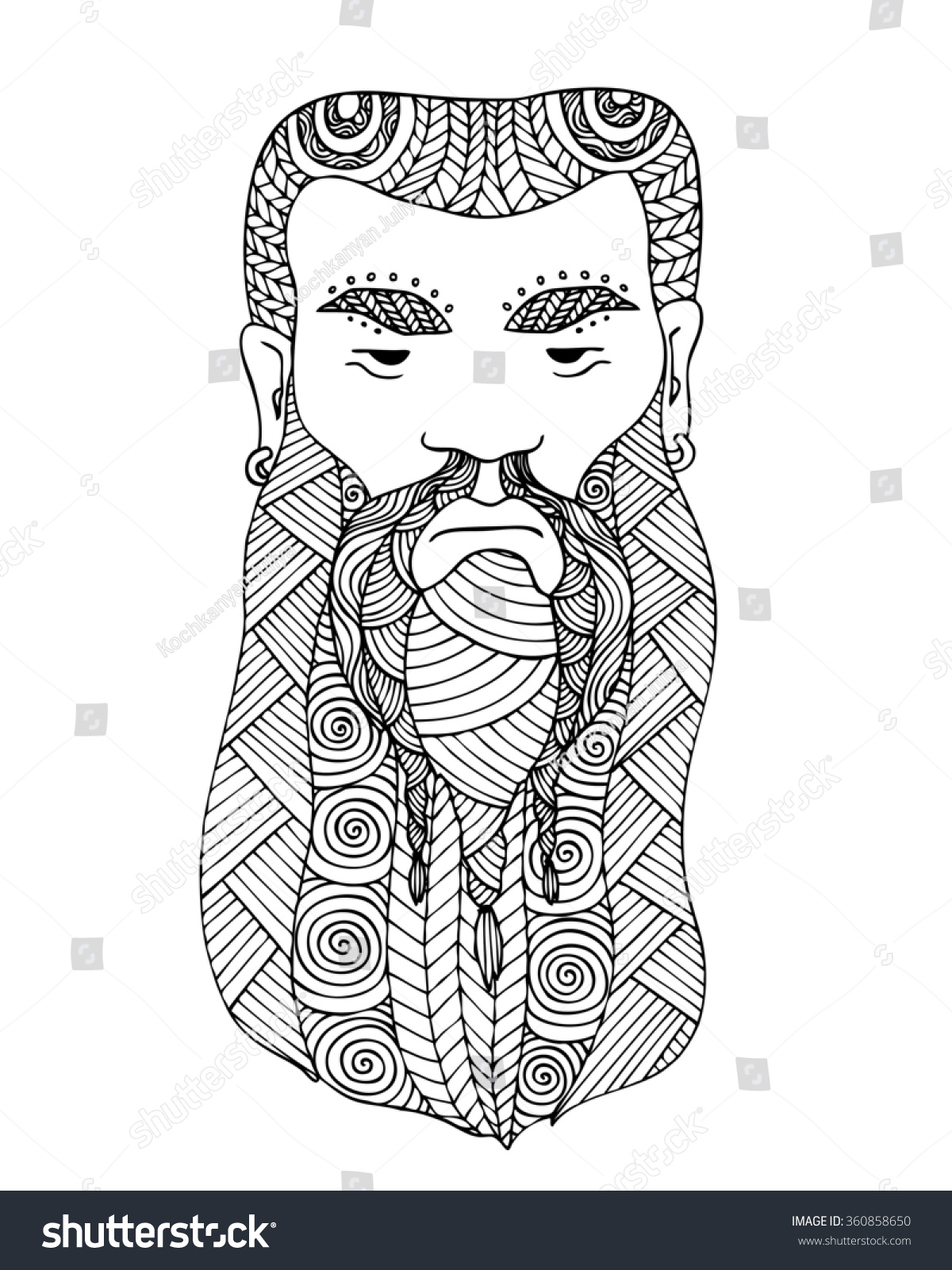 Adults colouring book pages - Adult Coloring Book Page Design With The Face Of A Viking Viking Man Logo