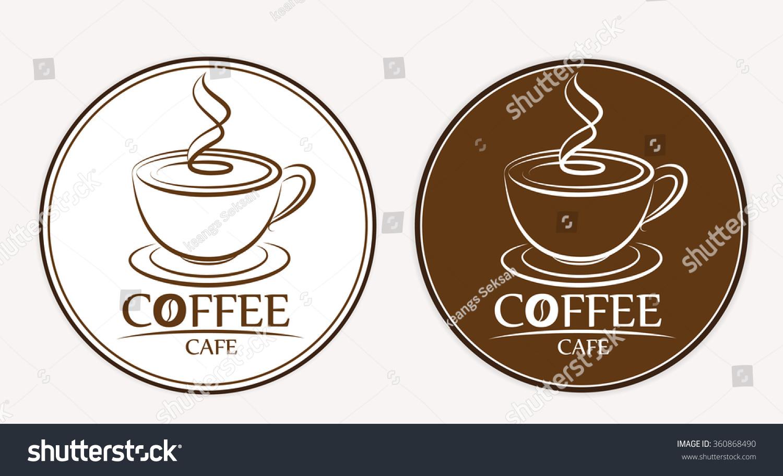 coffee logo labels design templates stock vector 360868490 With coffee label design template