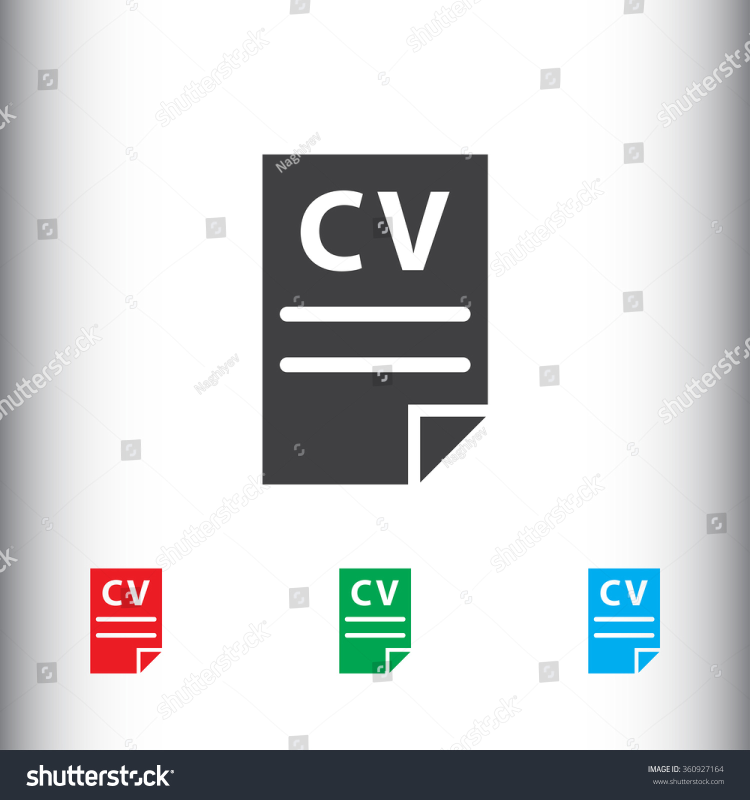 cv resume icon for web and mobile stock vector illustration