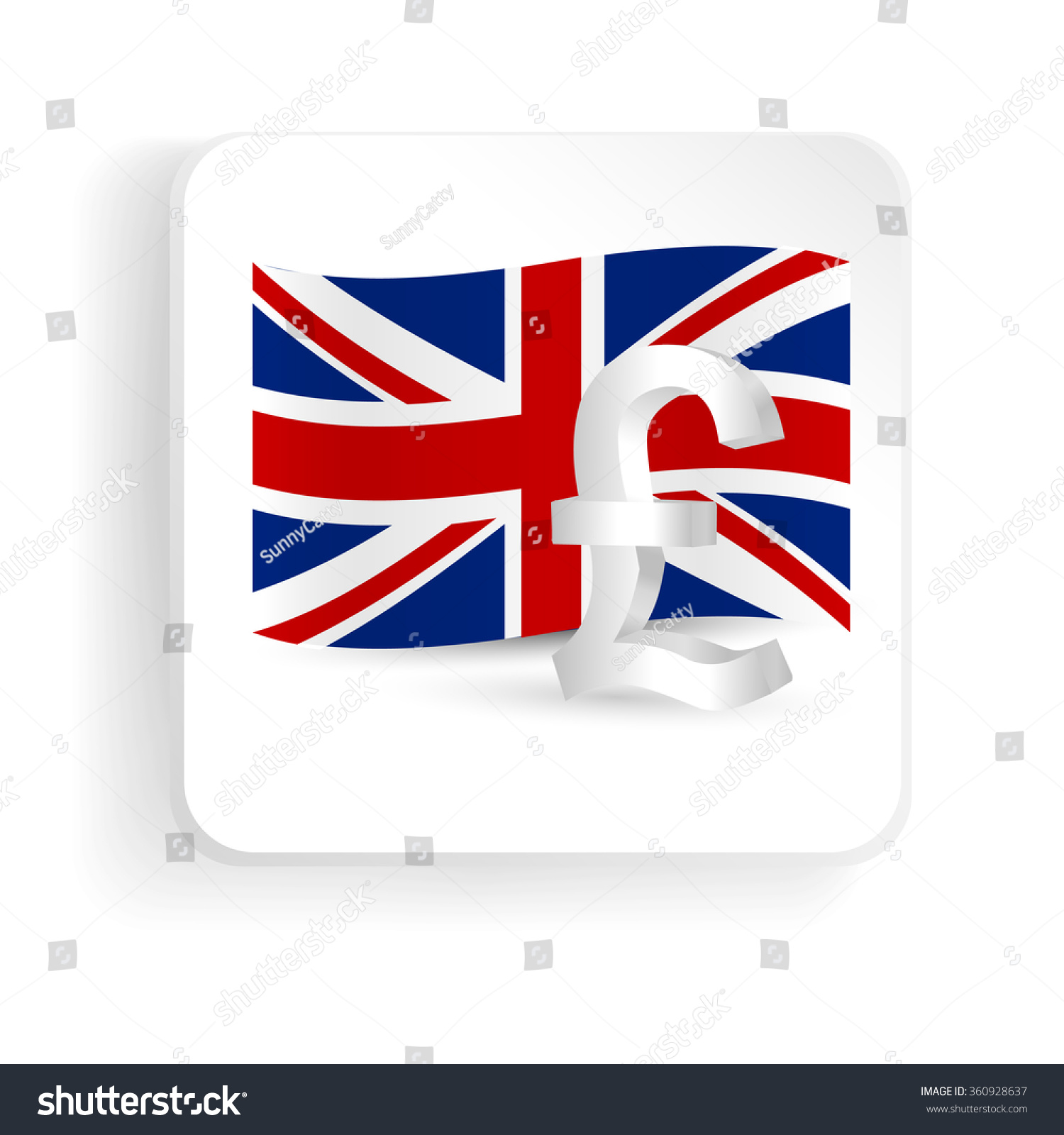 Pound symbol uk flag finance sign stock vector 360928637 pound symbol with uk flag finance sign icon vector illustration buycottarizona