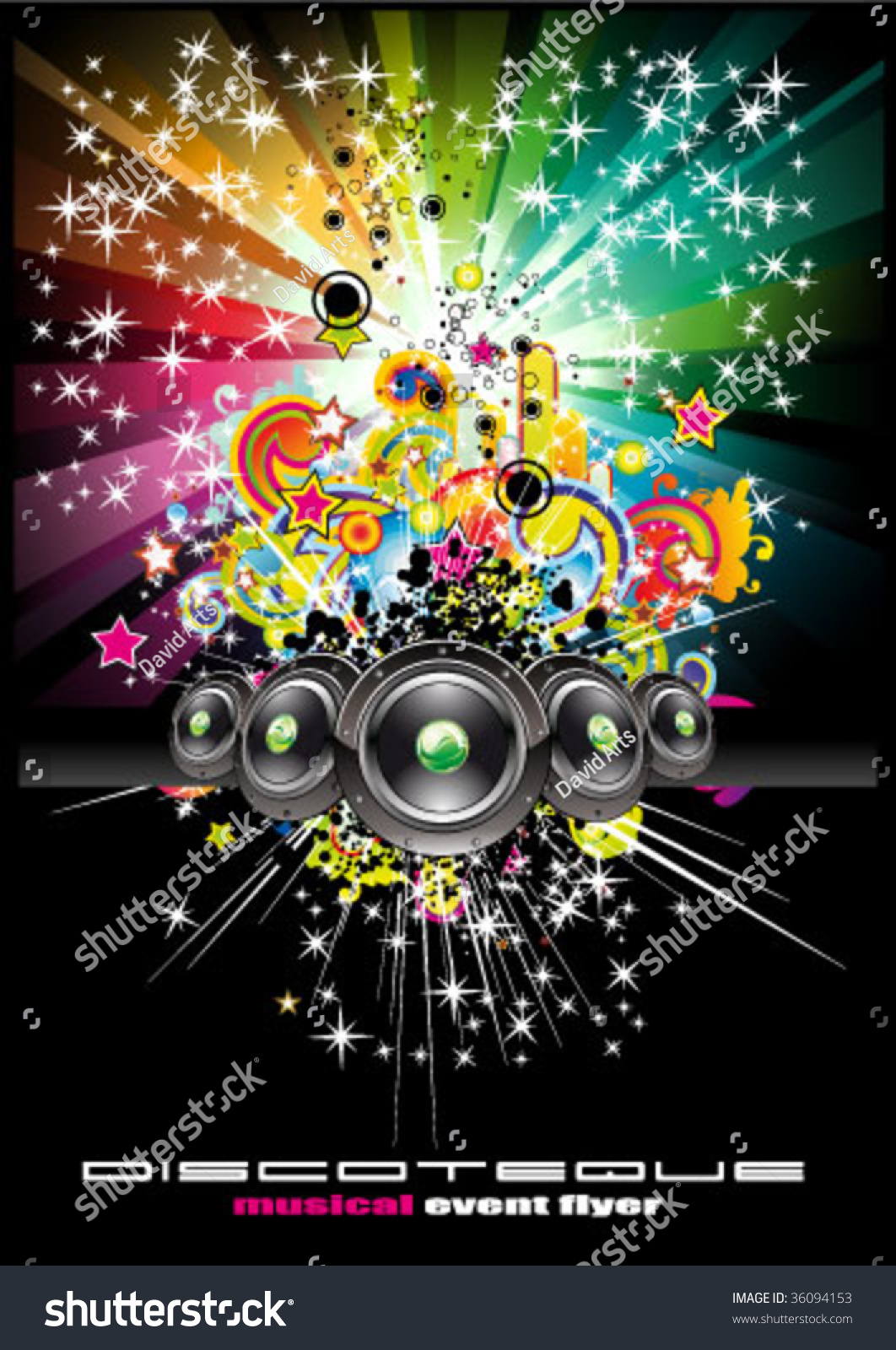vector colorful rainbow abstract music background stock vector