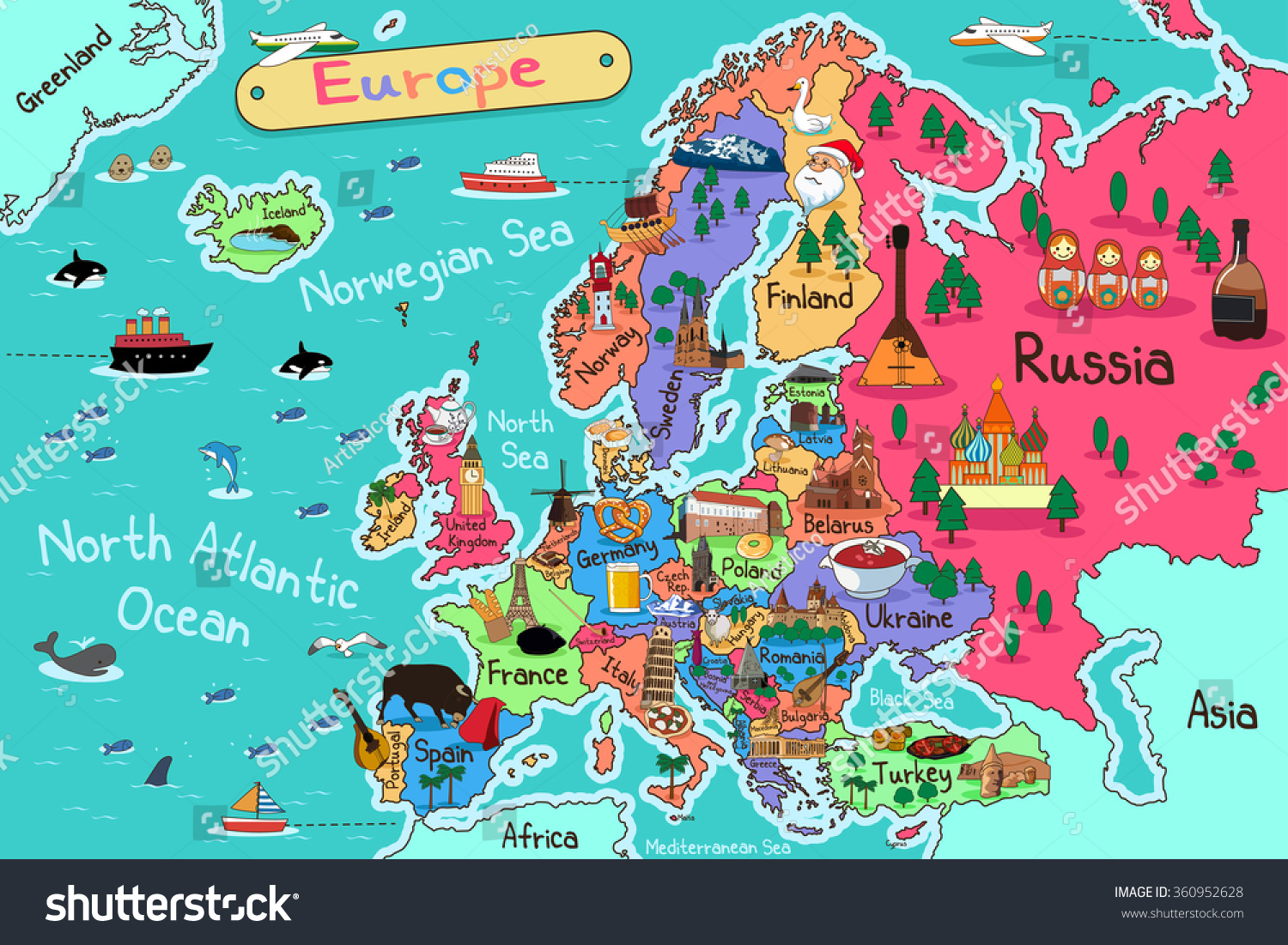 vector illustration of europe - photo #10