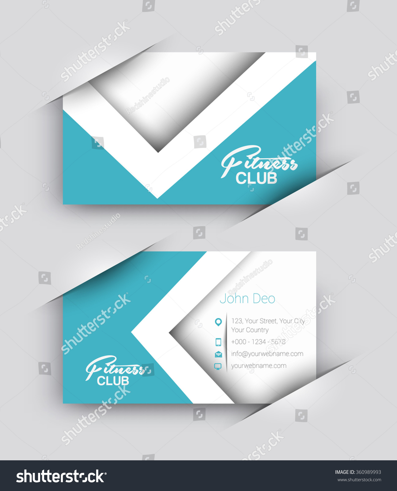 Modern business card vector template stock vector 360989993 modern business card vector template magicingreecefo Images