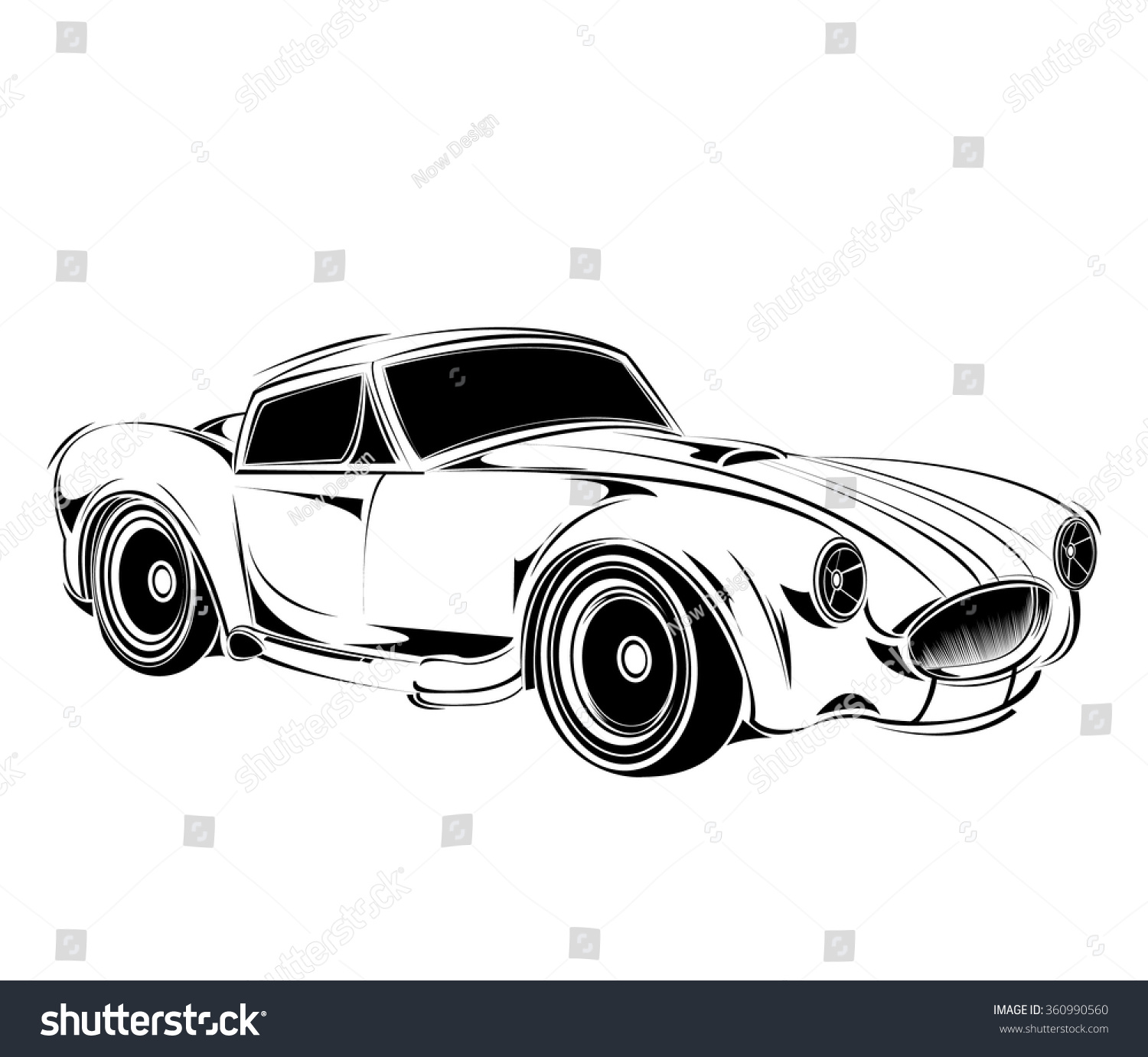 Royalty-free Old school car. Muscle car. Print for… #360990560 ...
