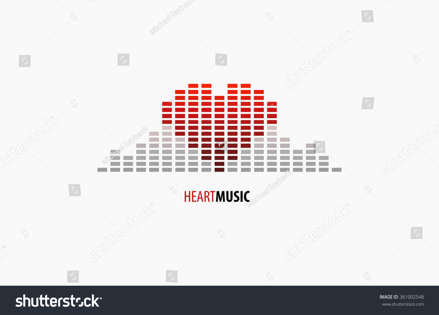 Heart music love music logo equalizer em vetor stock 361002548 heart music love music logo equalizer logo ccuart Image collections
