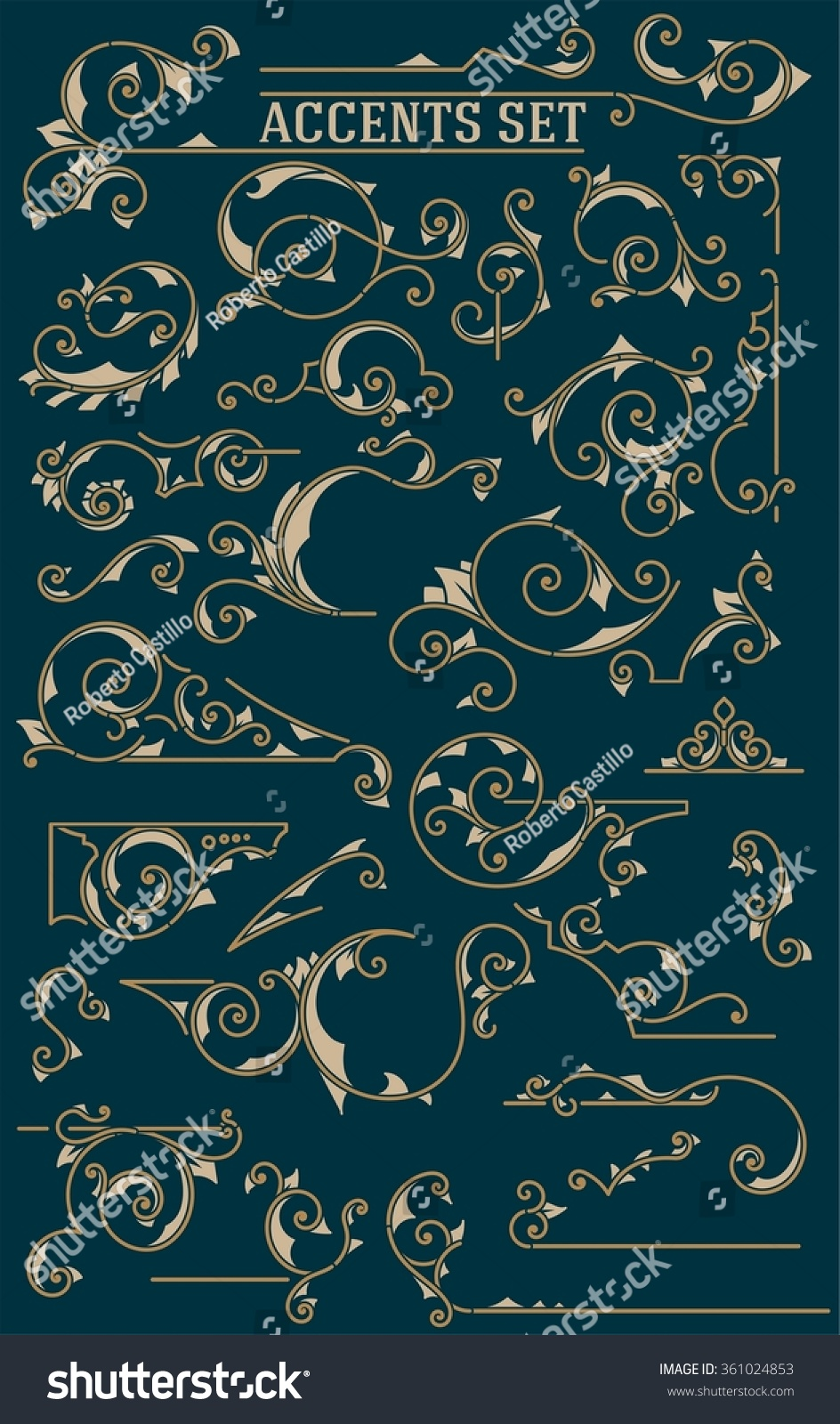 Vintage Ornaments. Design Elements Stock Vector