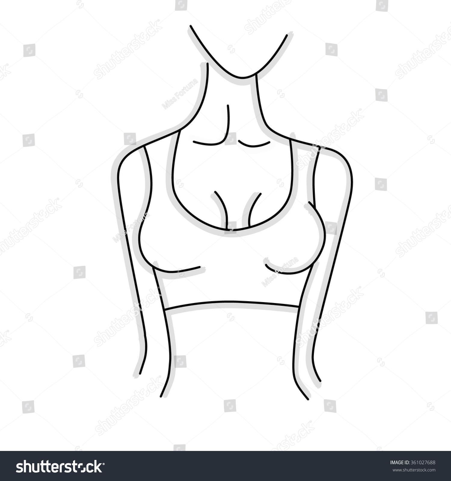 Vector Image Outline Female Body Stripe Stock Vector (2018 ...