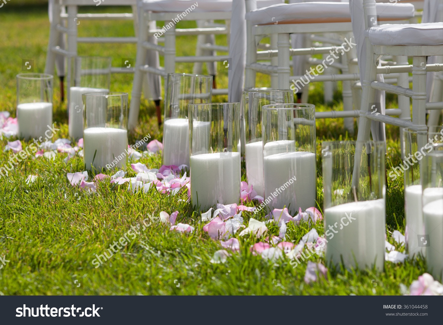 Beautiful wedding set up Wedding ceremony