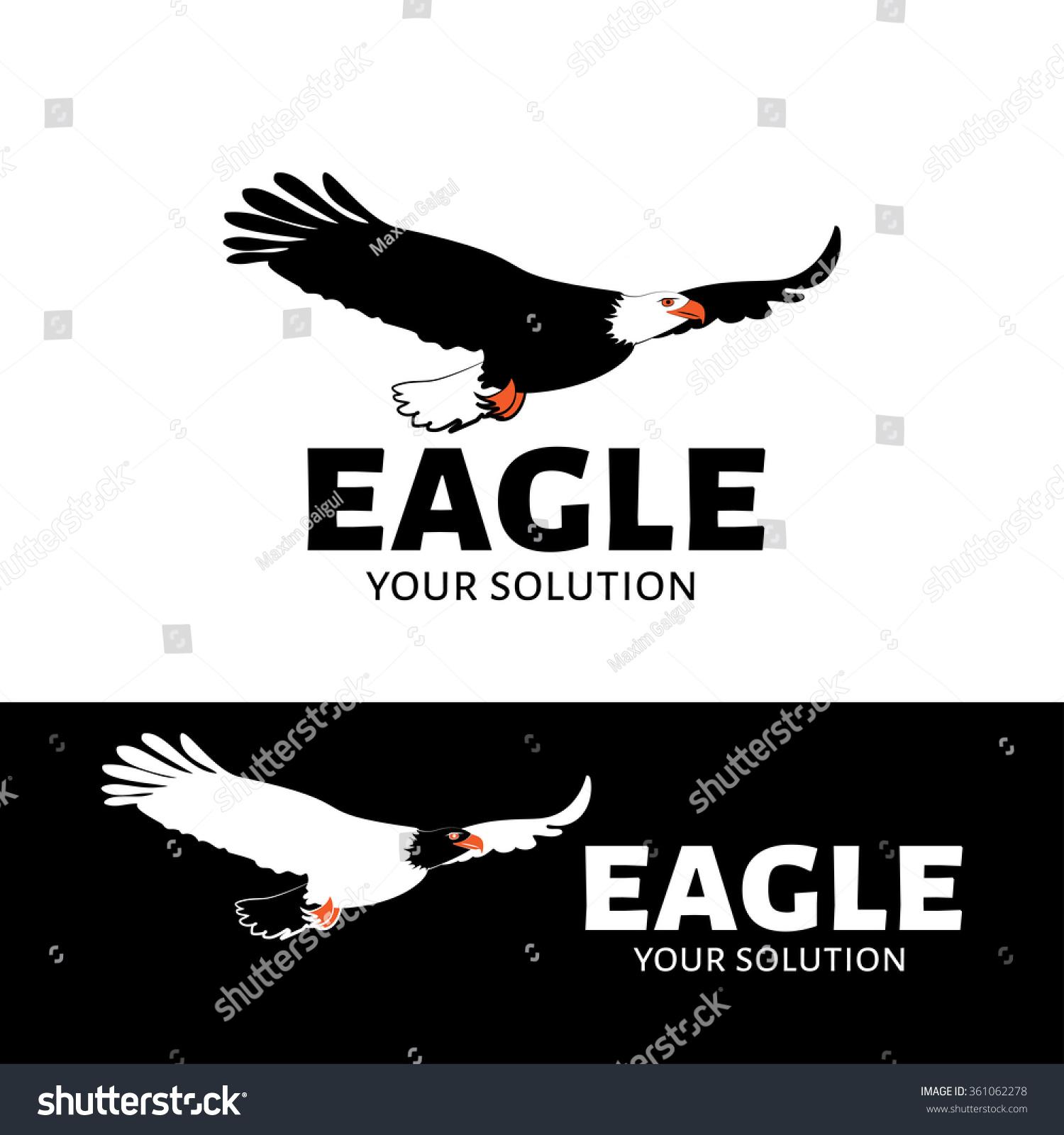 vector logo eagle eagle soars above stock vector 361062278