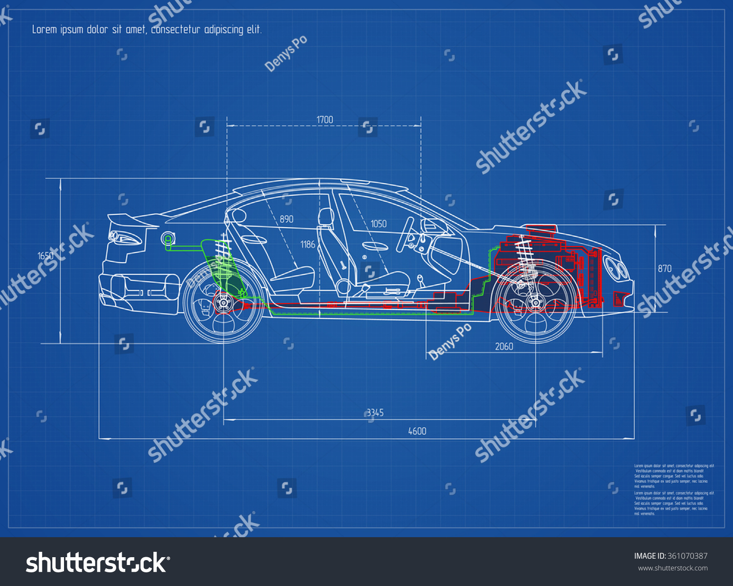 New car blueprint vector illustration eps vectores en stock new car blueprint vector illustration eps 10 malvernweather Image collections