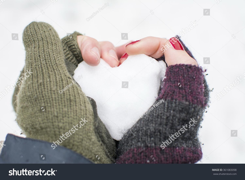Boys Girls Hand Holding Heart Made Stock Photo 361083098 ...