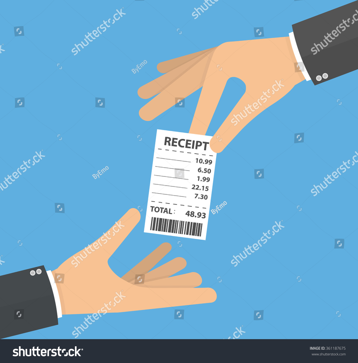 Hand Giving Receiving Receipt Handing Over Vector 361187675 – Receiving Receipt
