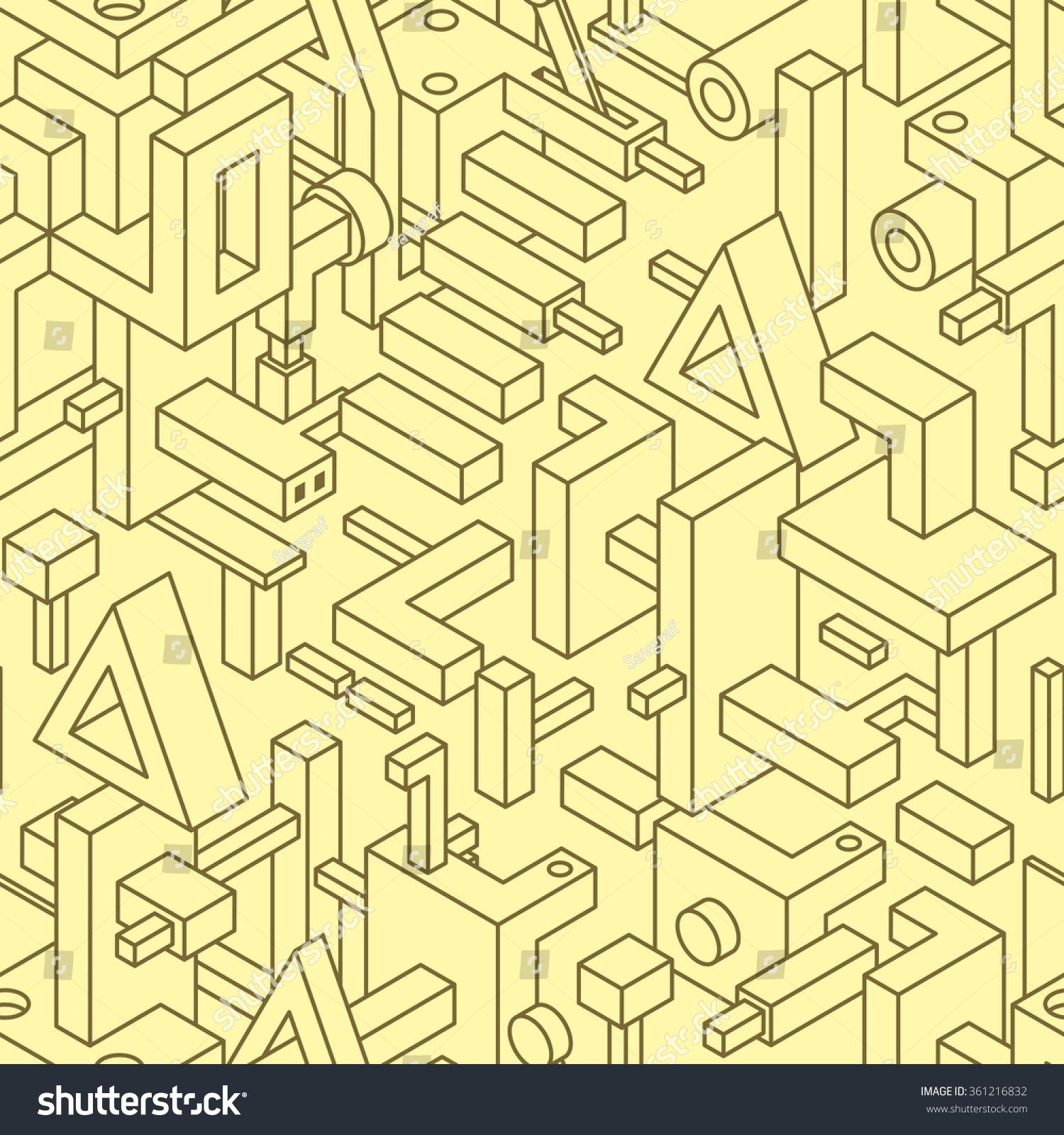 Straight Line Modern Art : Abstract seamless modern art pattern textile stock vector