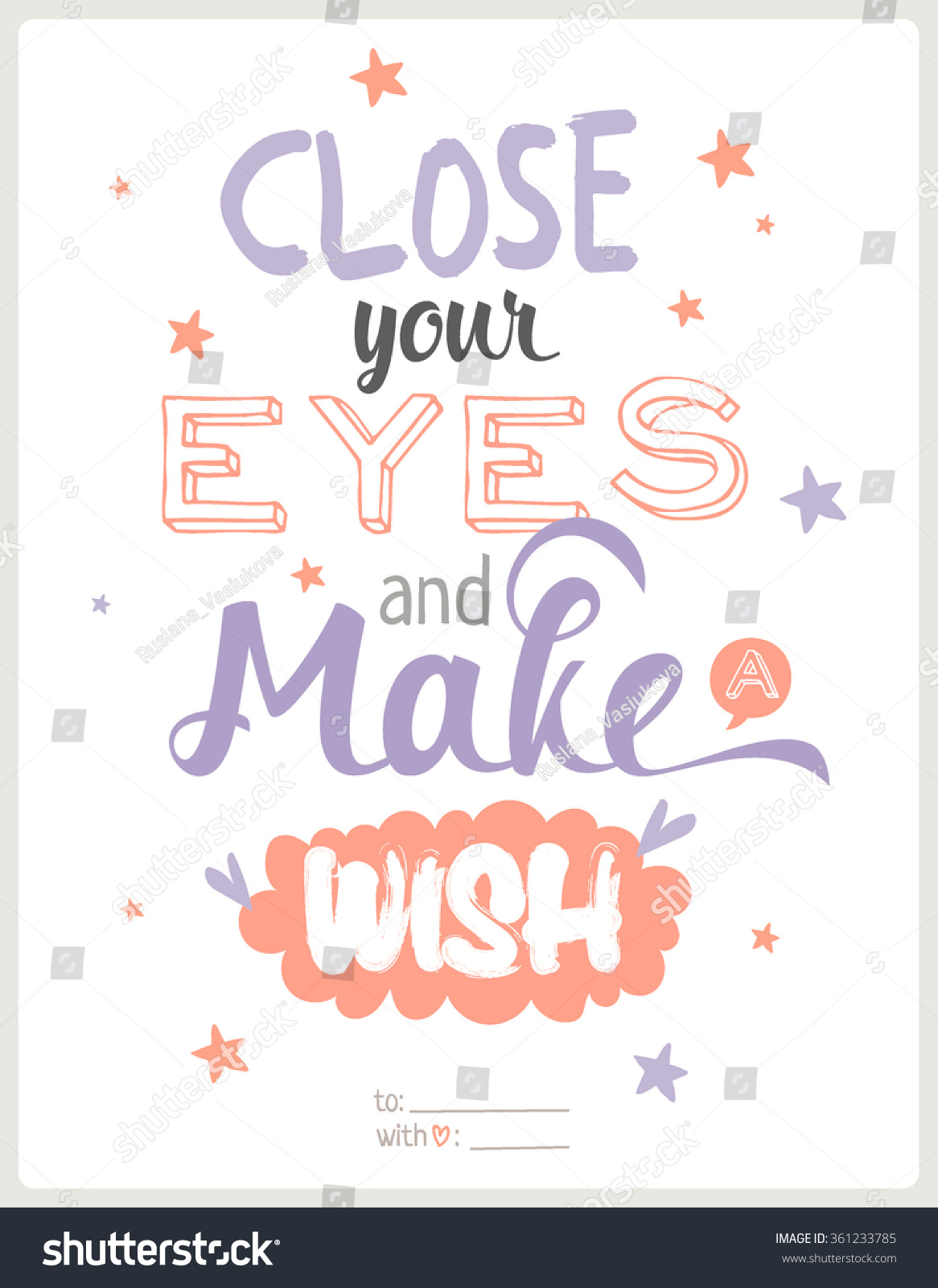 Cute Inspirational Quotes Greeting Typography Design Card Cute Inspirational Stock Vector