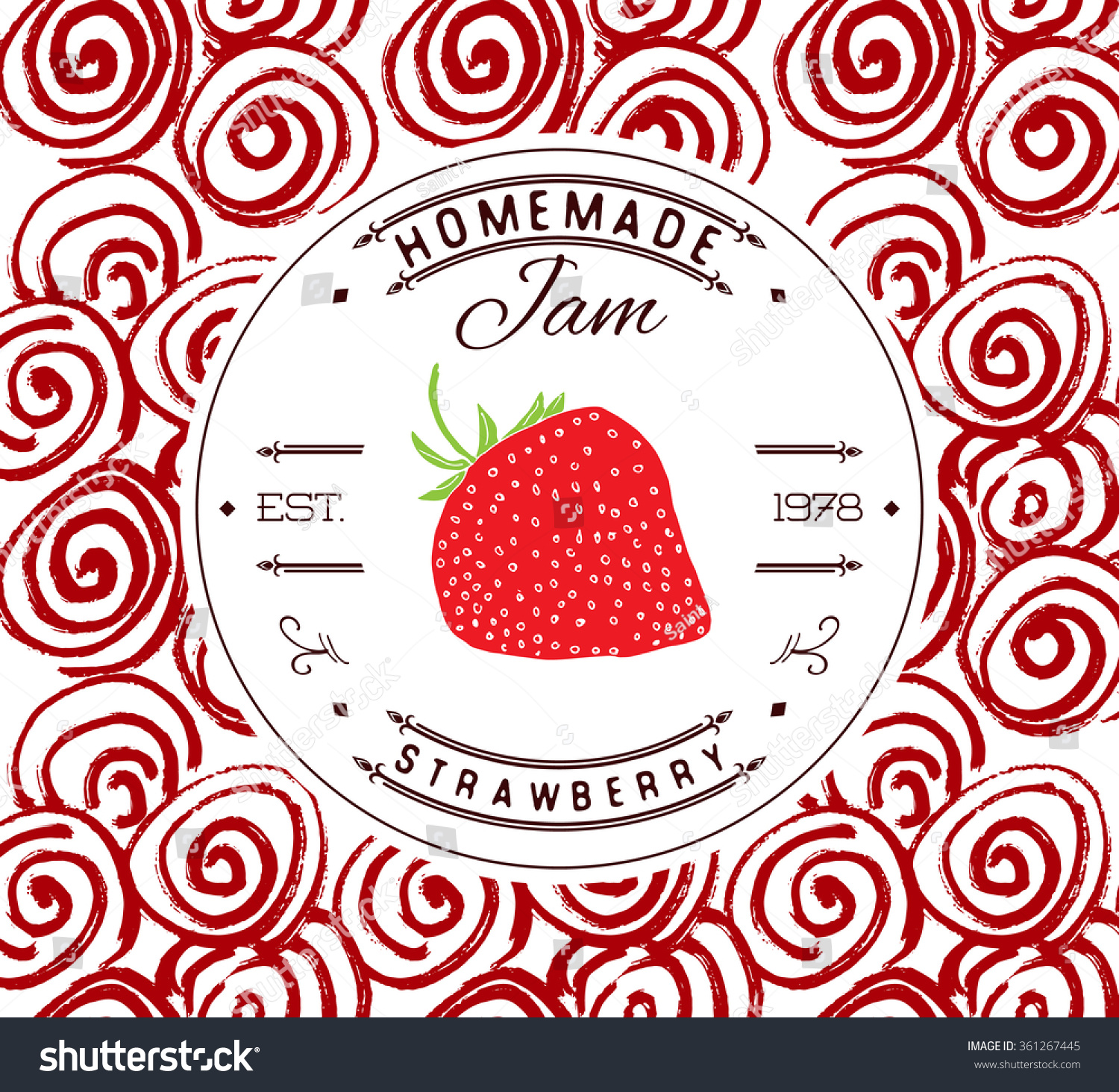Jam label design template strawberry dessert stock vector for Jelly jar label template
