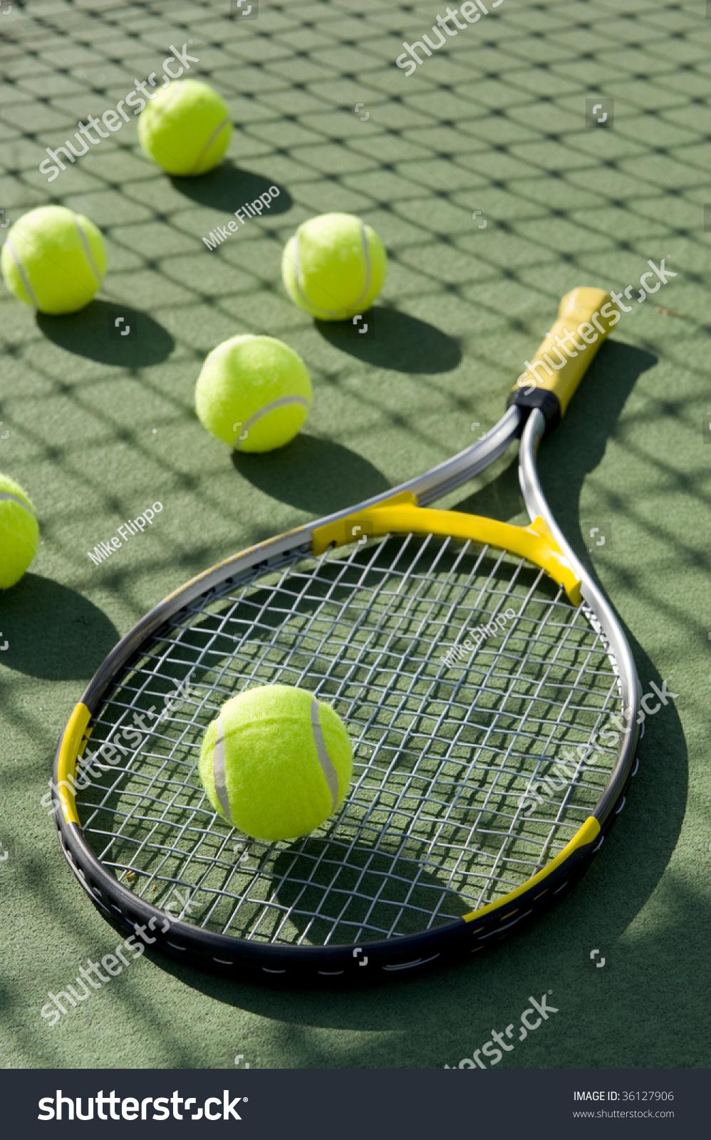 Freshly On Board Maira Moura Elite Model Management In: Group Tennis Balls Tennis Racket On Stock Photo 36127906