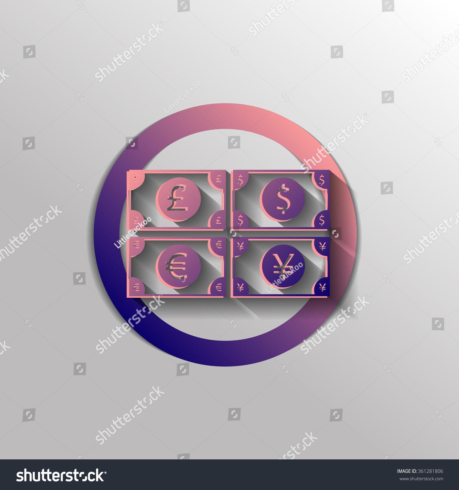 Money Bill Sign Symbol Icon Dollar Stock Vector 361281806 Shutterstock