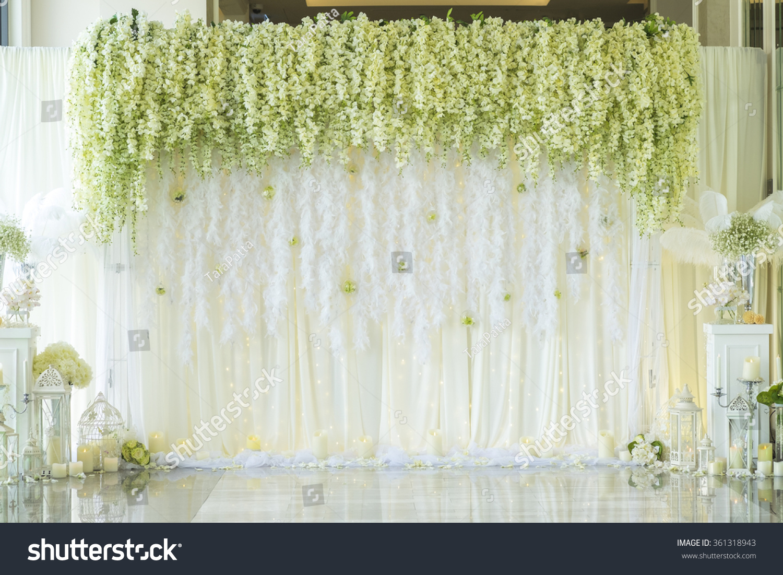 Wedding Backdrop Flower Decoration Stockfoto Jetzt Bearbeiten